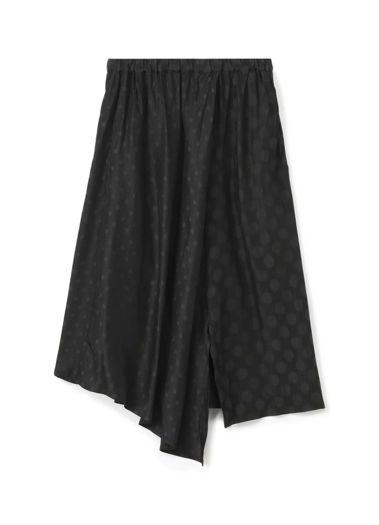 Cupra染提花圆点三角形喇叭半身裙