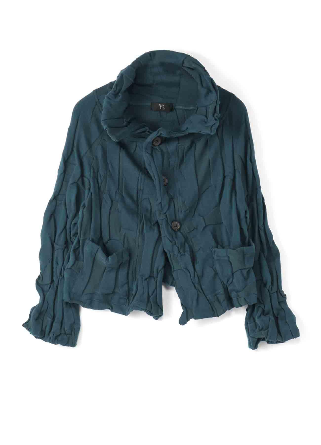 字母链接变形剪裁和缝制夹克