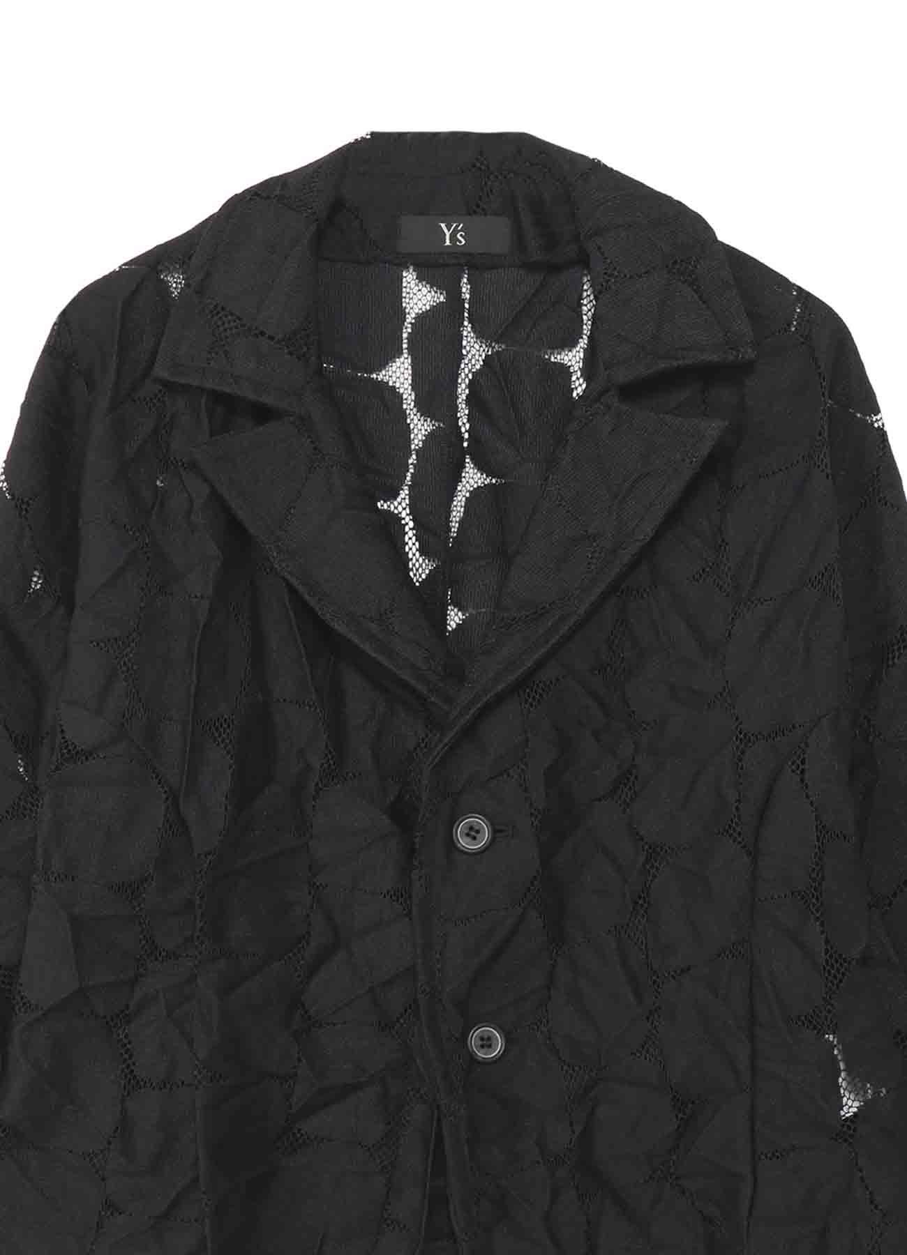 褶皱设计西装领夹克
