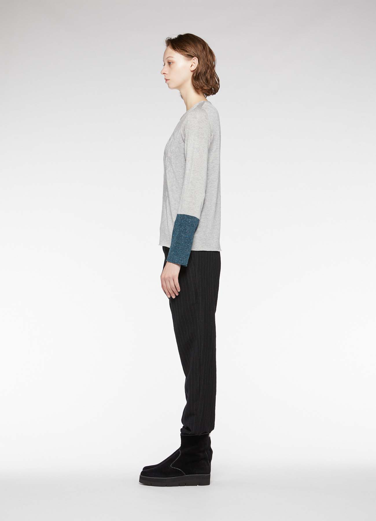 FROWER LINKS ROUND NECK LONG SLEEVE PULLOVER