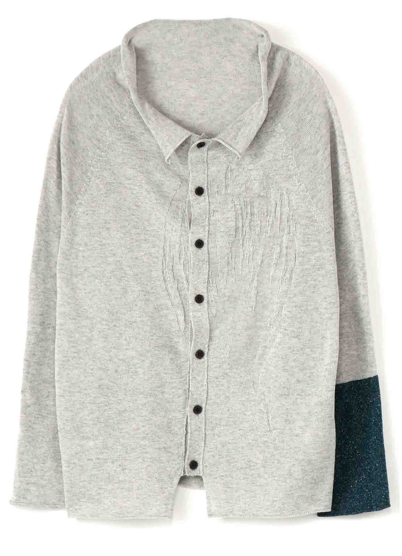 FROWER LINKS OFF NECK BUTTON CARDIGAN