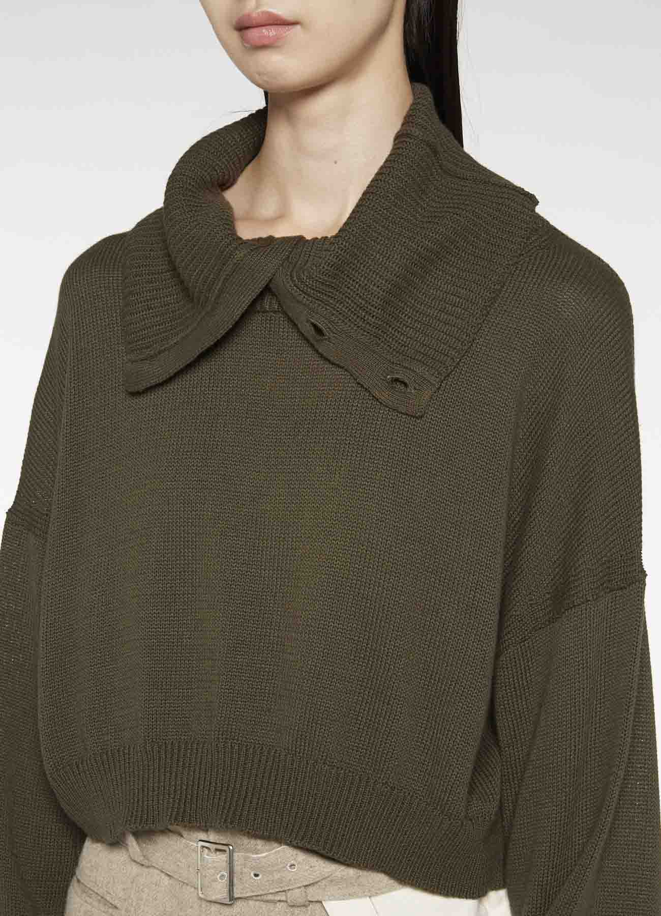 COTTON KINIT DOUBLE COLLAR PULLOVER