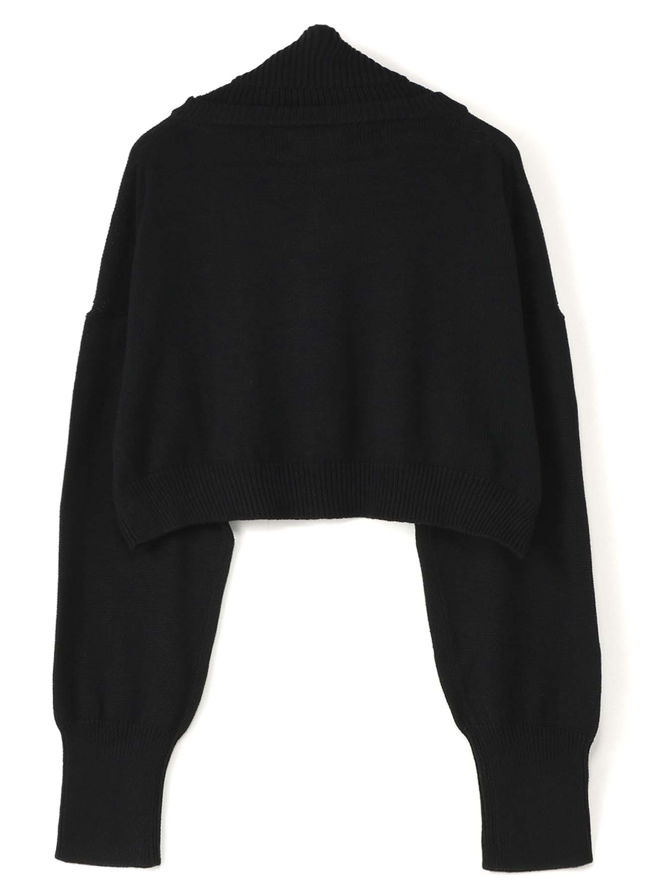 COTTON KNIT DOUBLE COLLAR PULLOVER