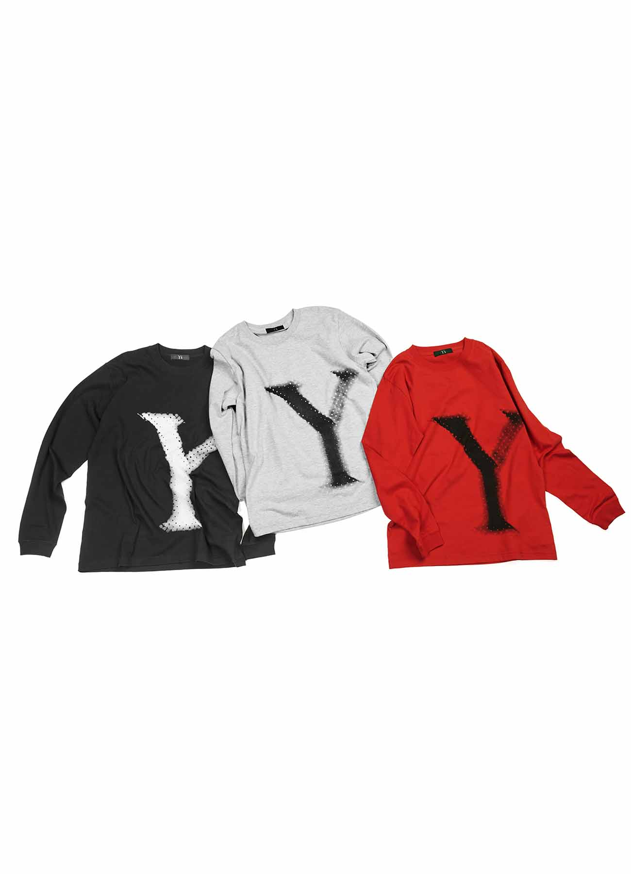 -Online EXCLUSIVE- Y's Big logo Long sleeve T-shirts