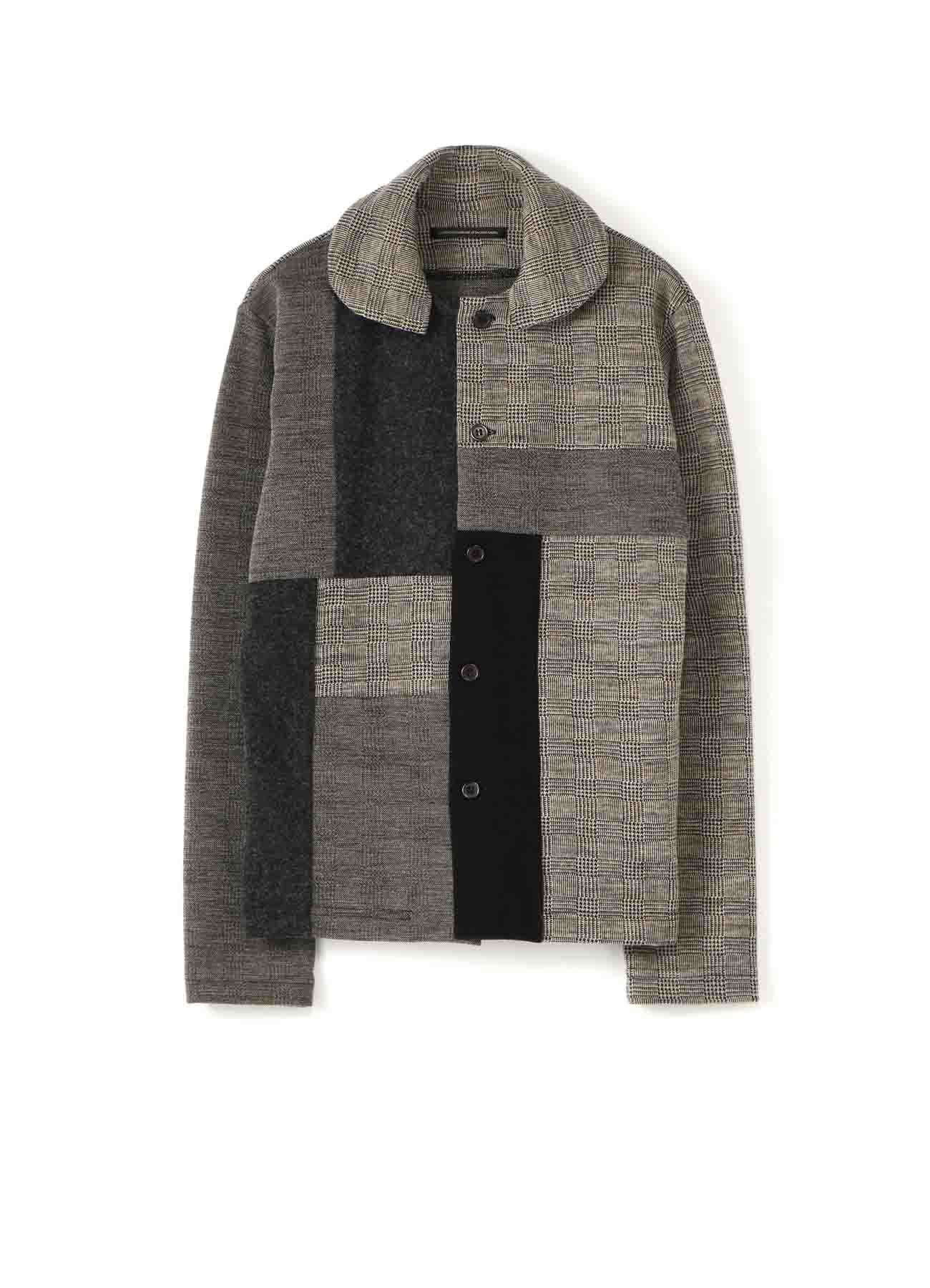 GLEN CHECK PATCHWORK CARDIGAN B