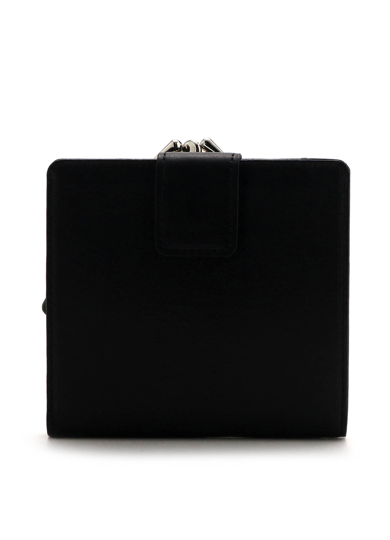 MEDIUM GLOSS LEATHER BASIC CLASP WALLET SMALL
