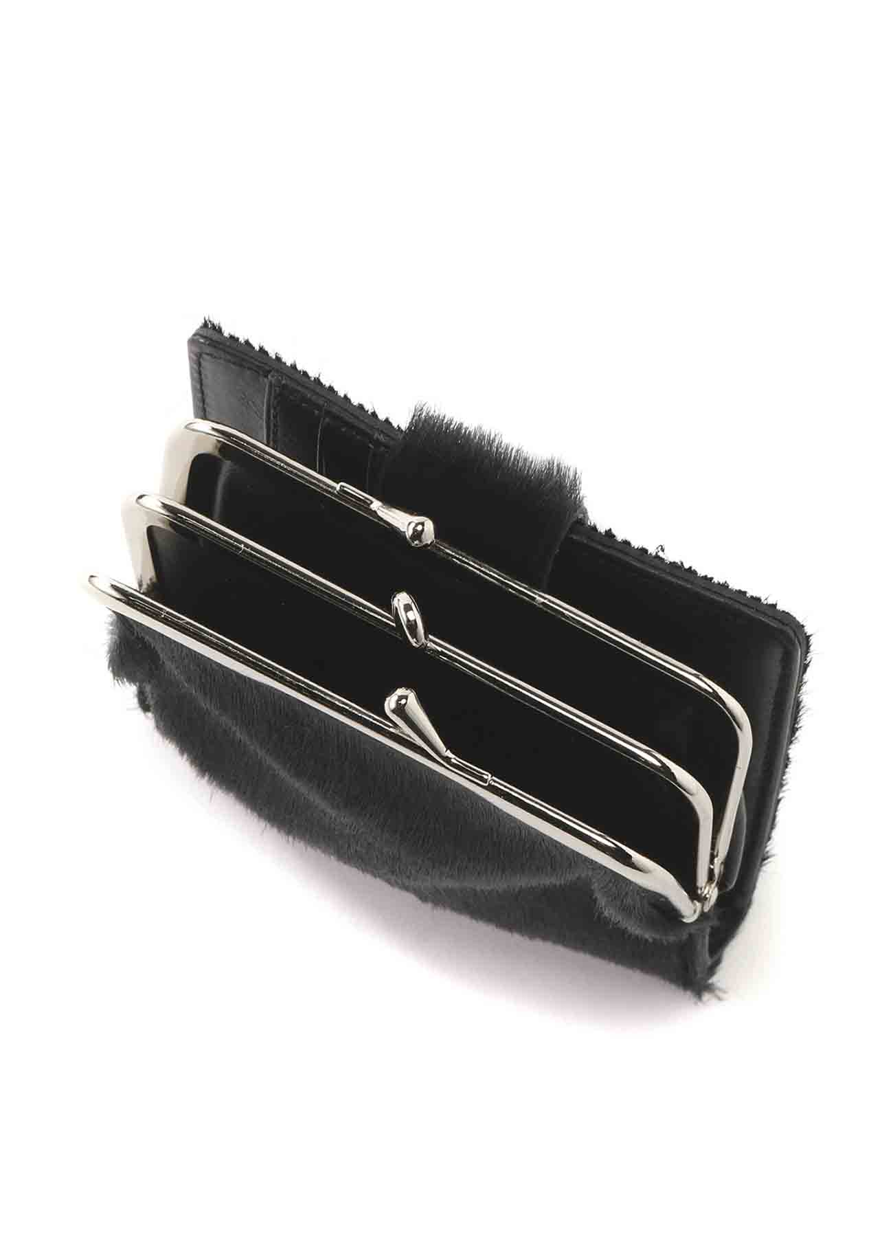 HORSE LEATHER BASIC CLASP WALLET SMALL