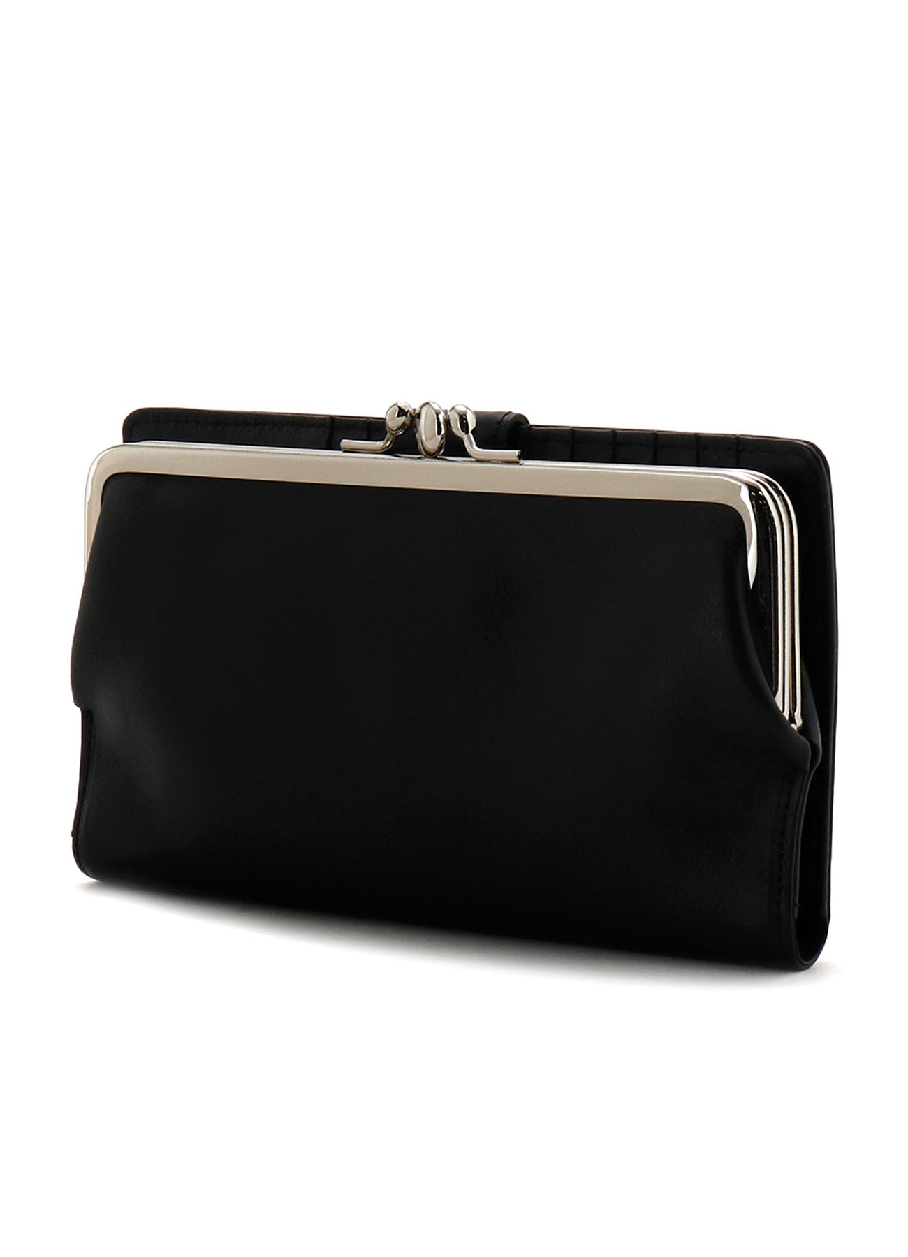 MEDIUM GLOSS LEATHER BASIC CLASP LONG WALLET