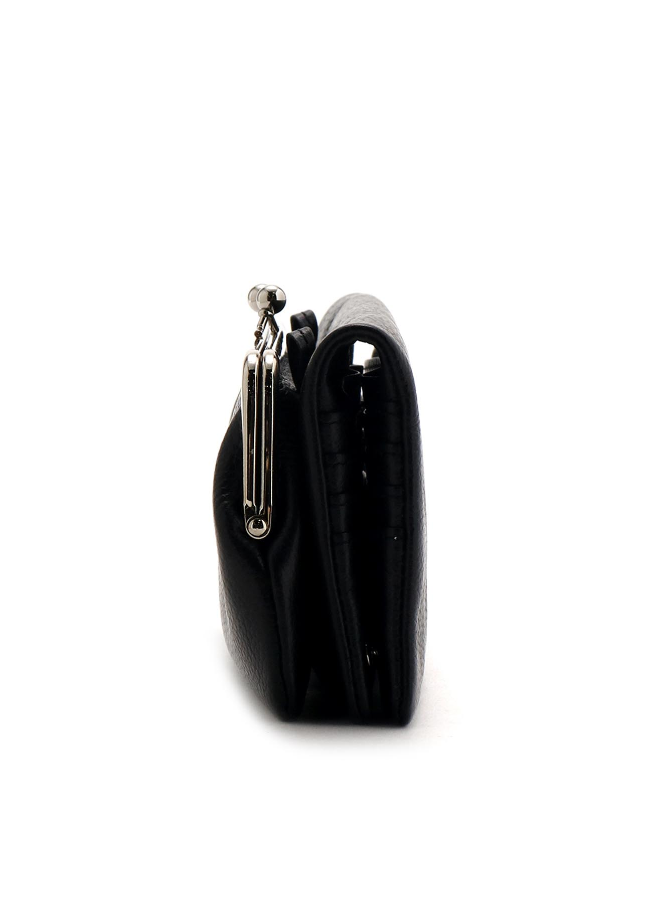 MEDIUM GLOSS SHRINK STRAP PUFFED CLASP LONG WALLET
