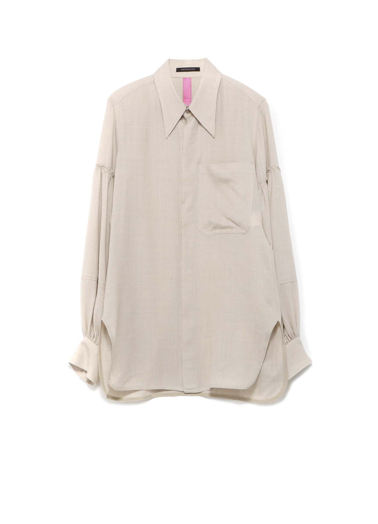 Y'sPINK VIYELLA GATHER SLEEVE SHIRT