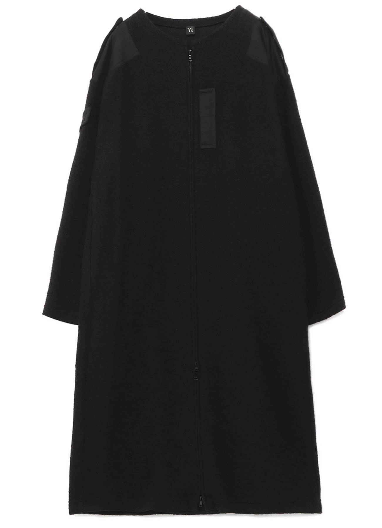 LIGHT MOLE SKIN x ITALIAN AIRY MOHAIR COLLARLESS DRESS