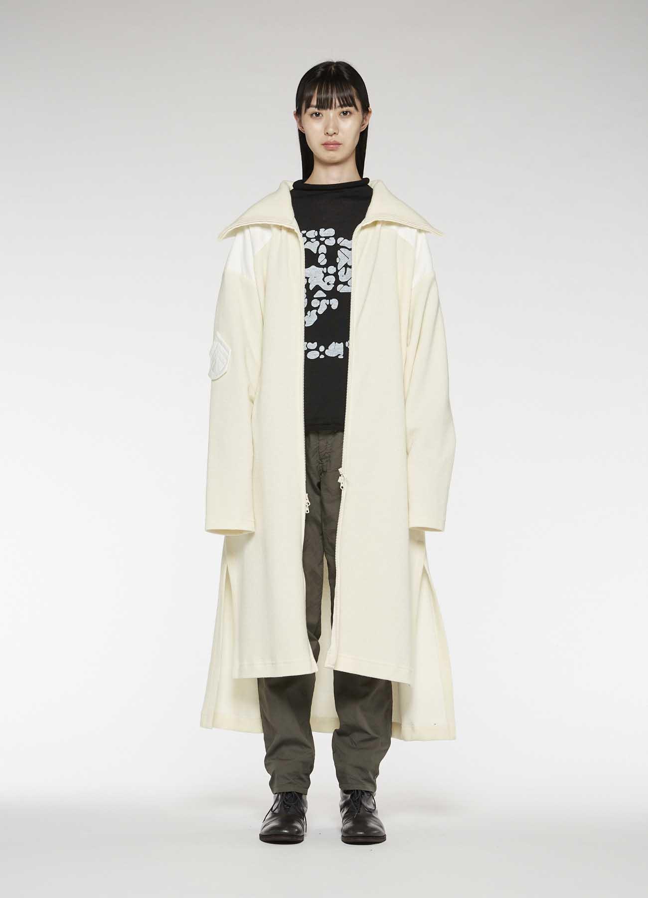 DOUBLE FACE x COTTON SILESIA STAND COLLAR DRESS