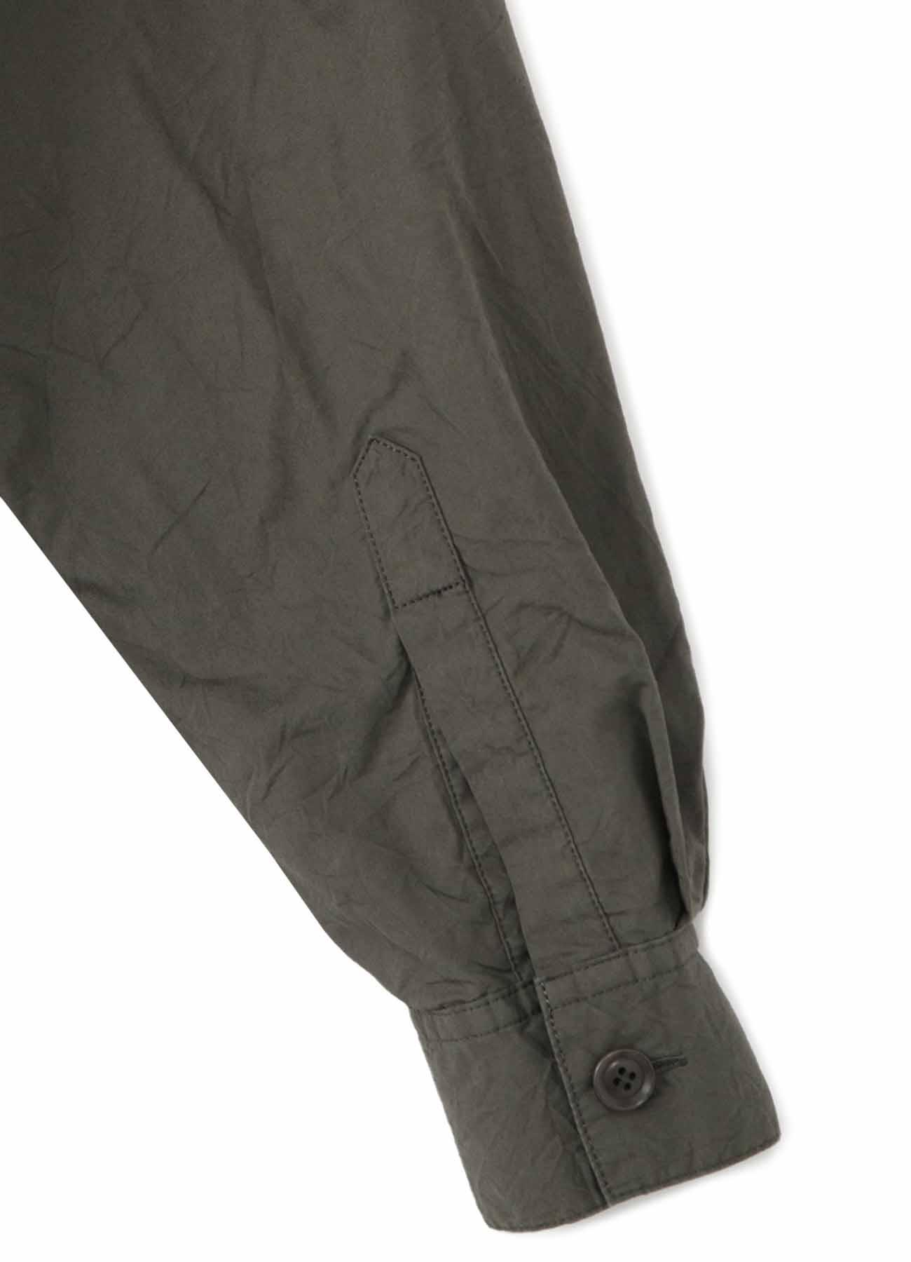 COTTON BROAD WRINKLE GARMENT DYE 2 CHEST POCKET SHIRT DRESS