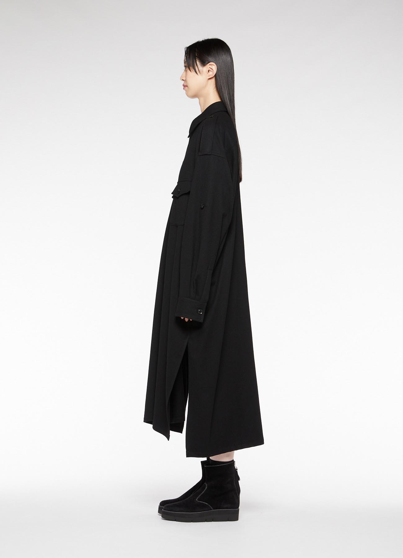 2/72 SP100'S FLANNEL 2 CHEST POCKET SHIRT DRESS