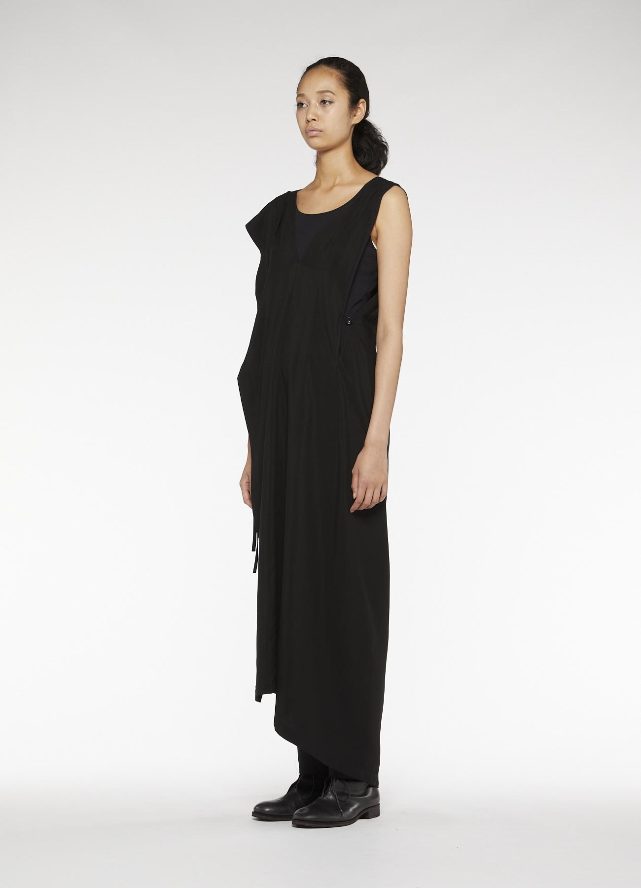 MICHIKObyY's RAYON CUPRA TUSSAH WRAP DRESS