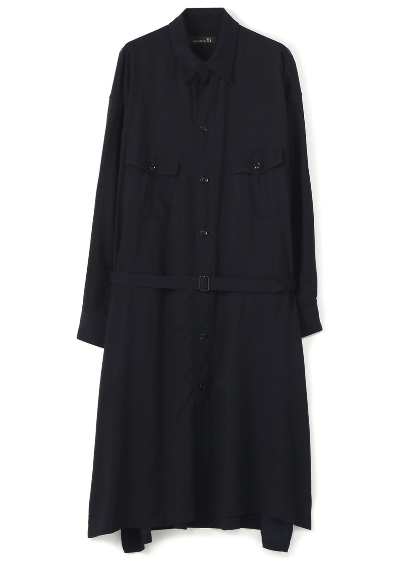 MICHIKObyY's RAYON CUPRA TUSSAH 2 CHEST POCKETS SHIRT DRESS