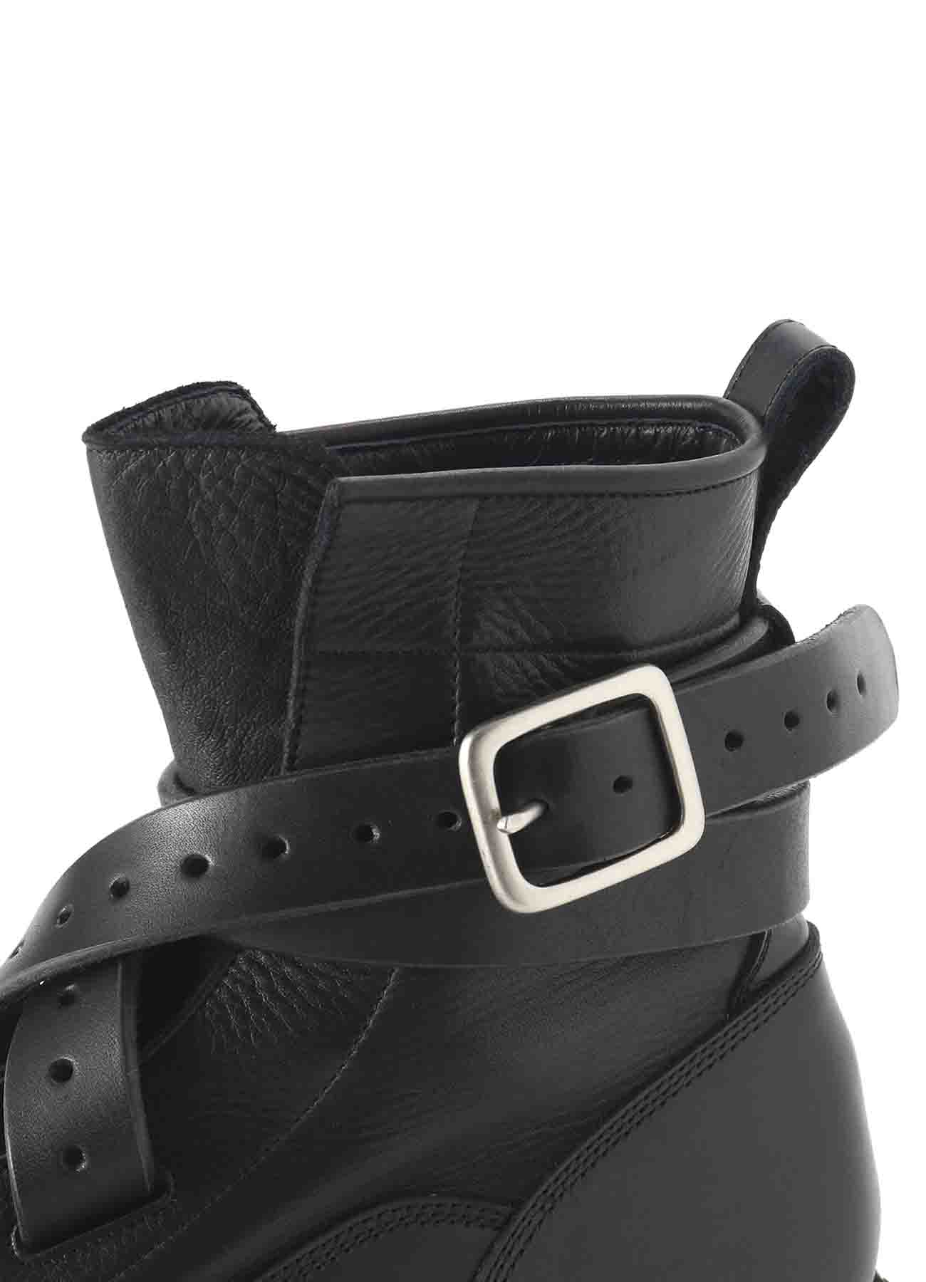 COMBI LEATHER BELT BOOTS