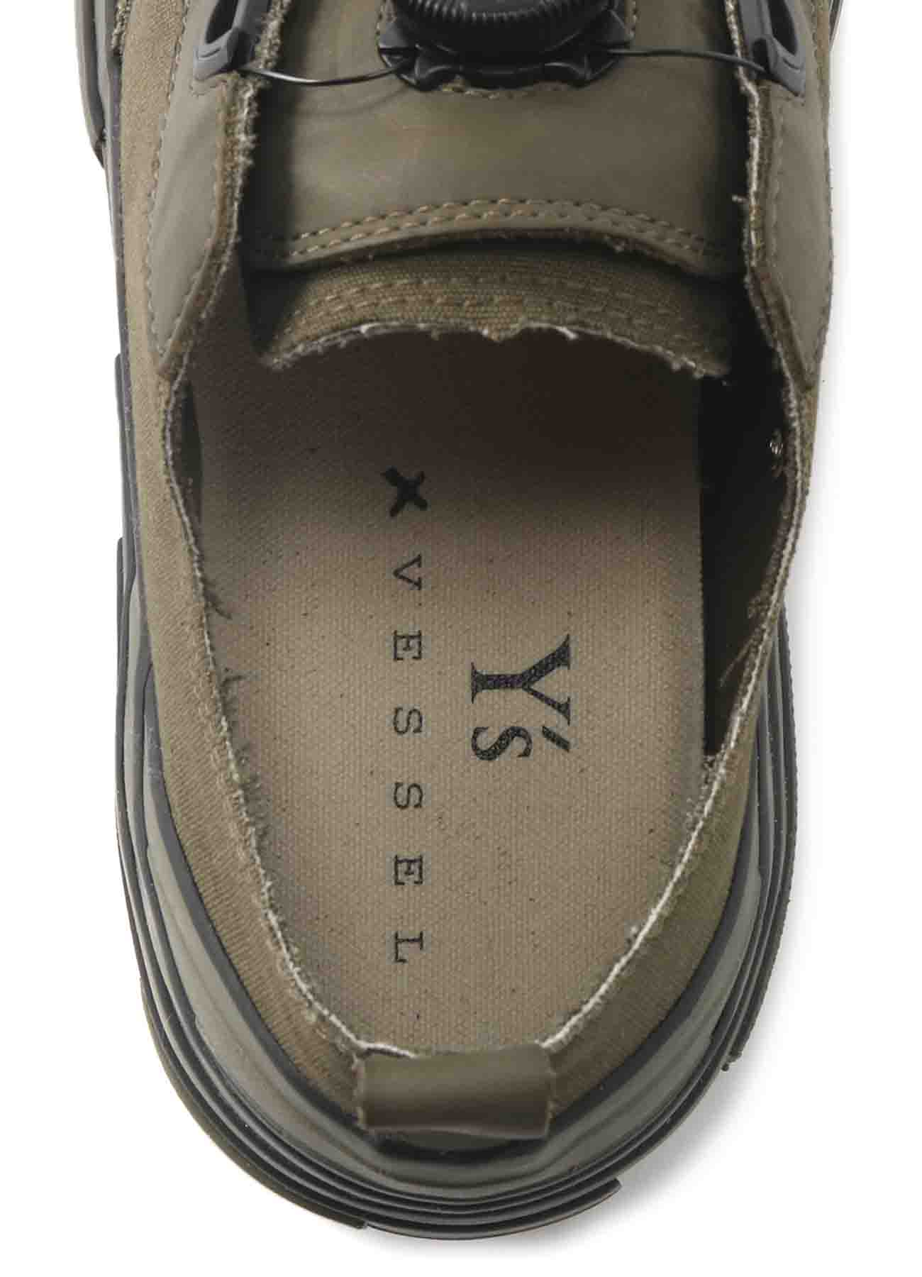 Y's x VESSEL SNEAKER MENS COLOR CANVAS
