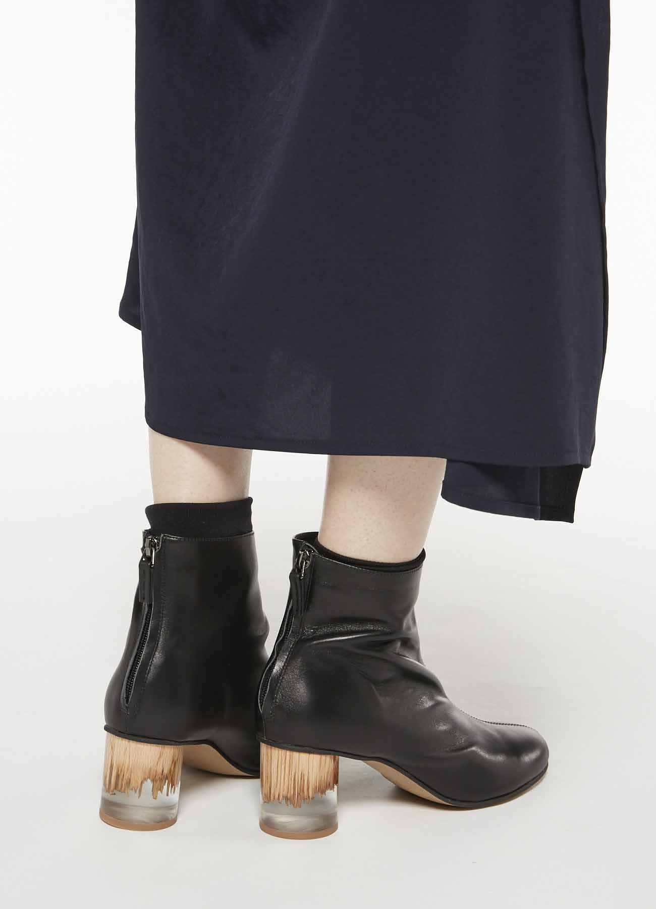 KAYONAKAMURAbyY's SOFT SMOOTH CLEAR HEEL BOOTS