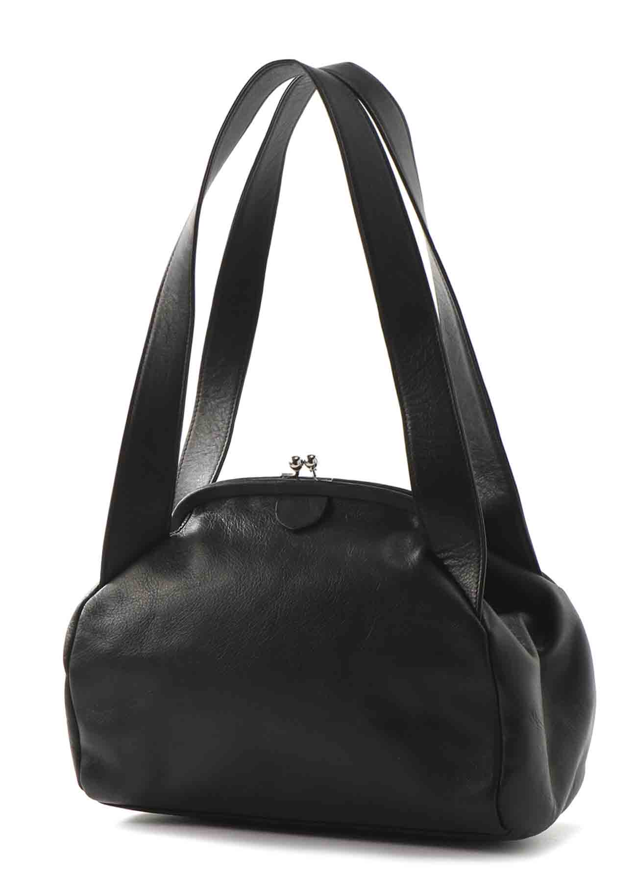 MEDIUM GLOSS LEATHER CLASP HANDBAG