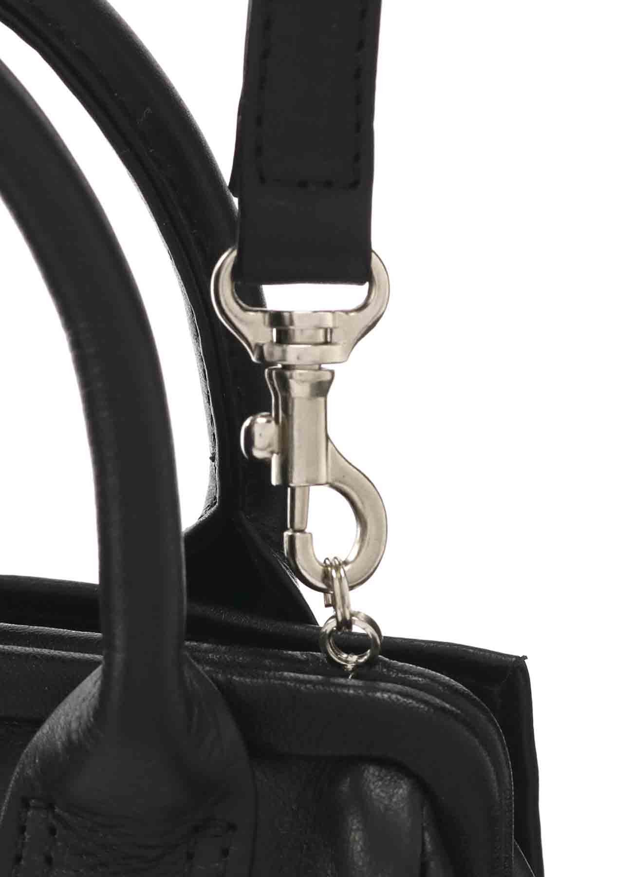 MEDIUM GLOSS LEATHER MINI CLASP POCHETTE