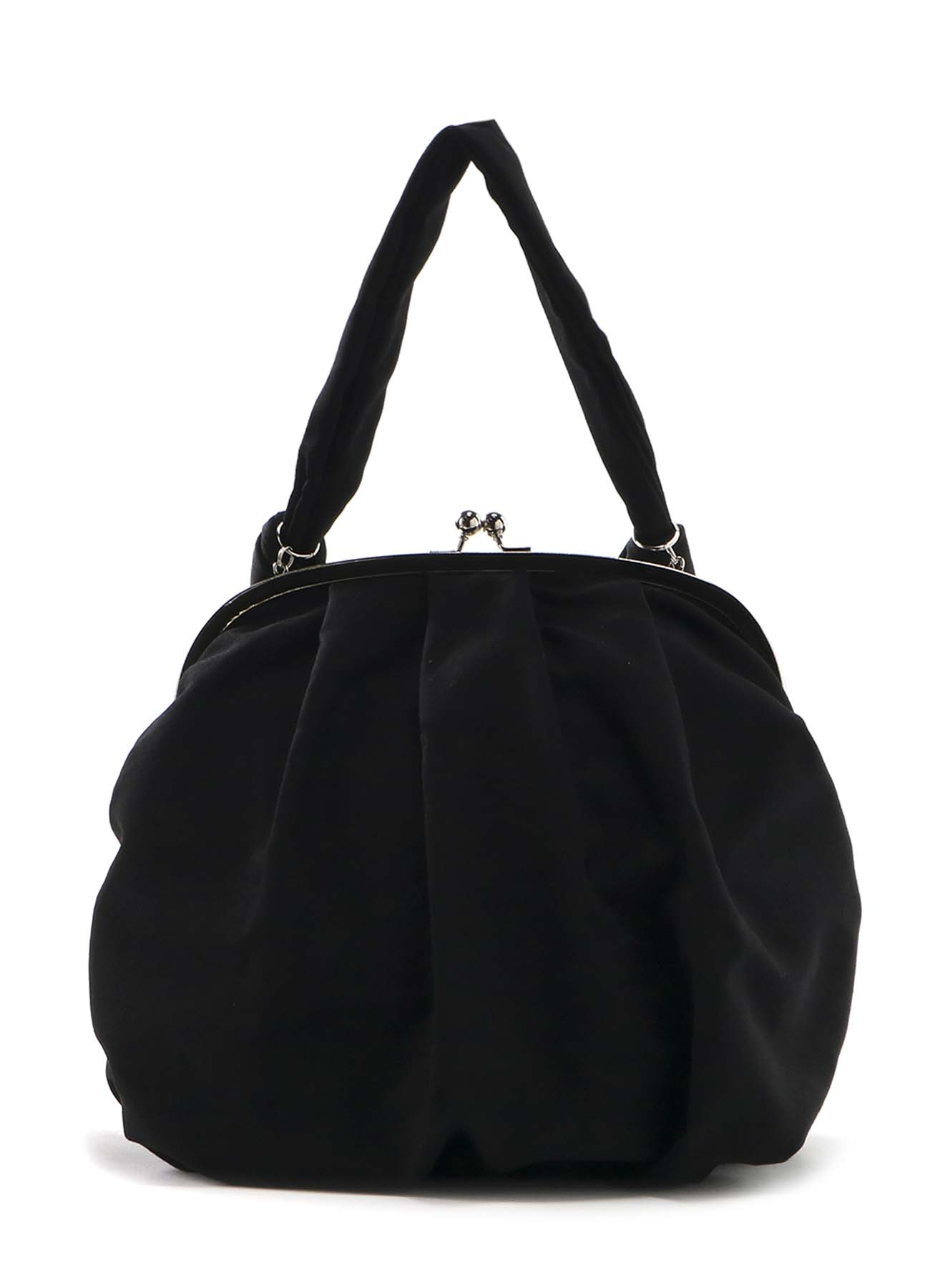 GABARDINE COMBI ROUND CLASP SHOULDER BAG