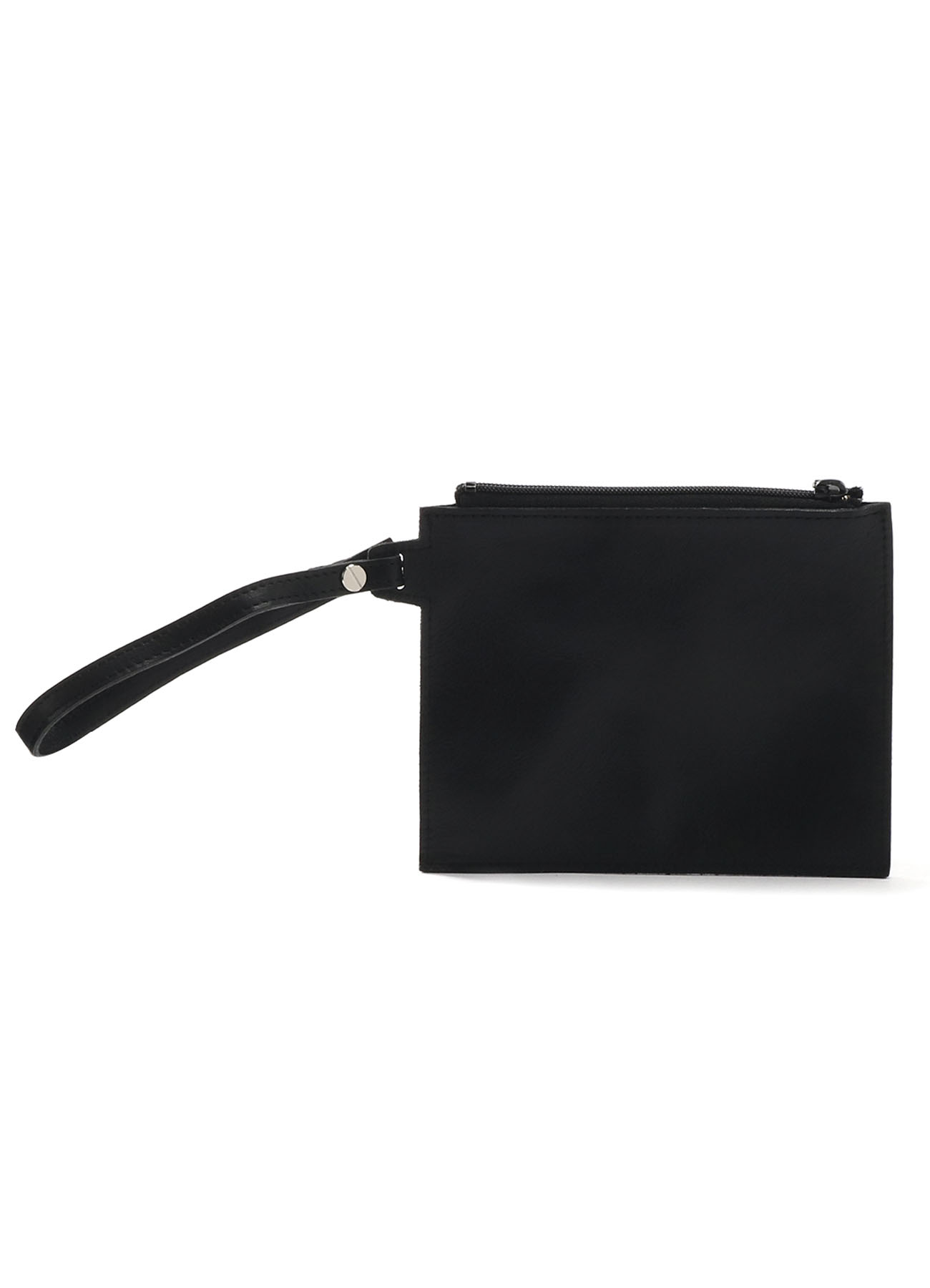 KAYONAKAMURAbyY's FLAX COW LEATHER COMBI REVERSIBLE PURSE POCHETTE