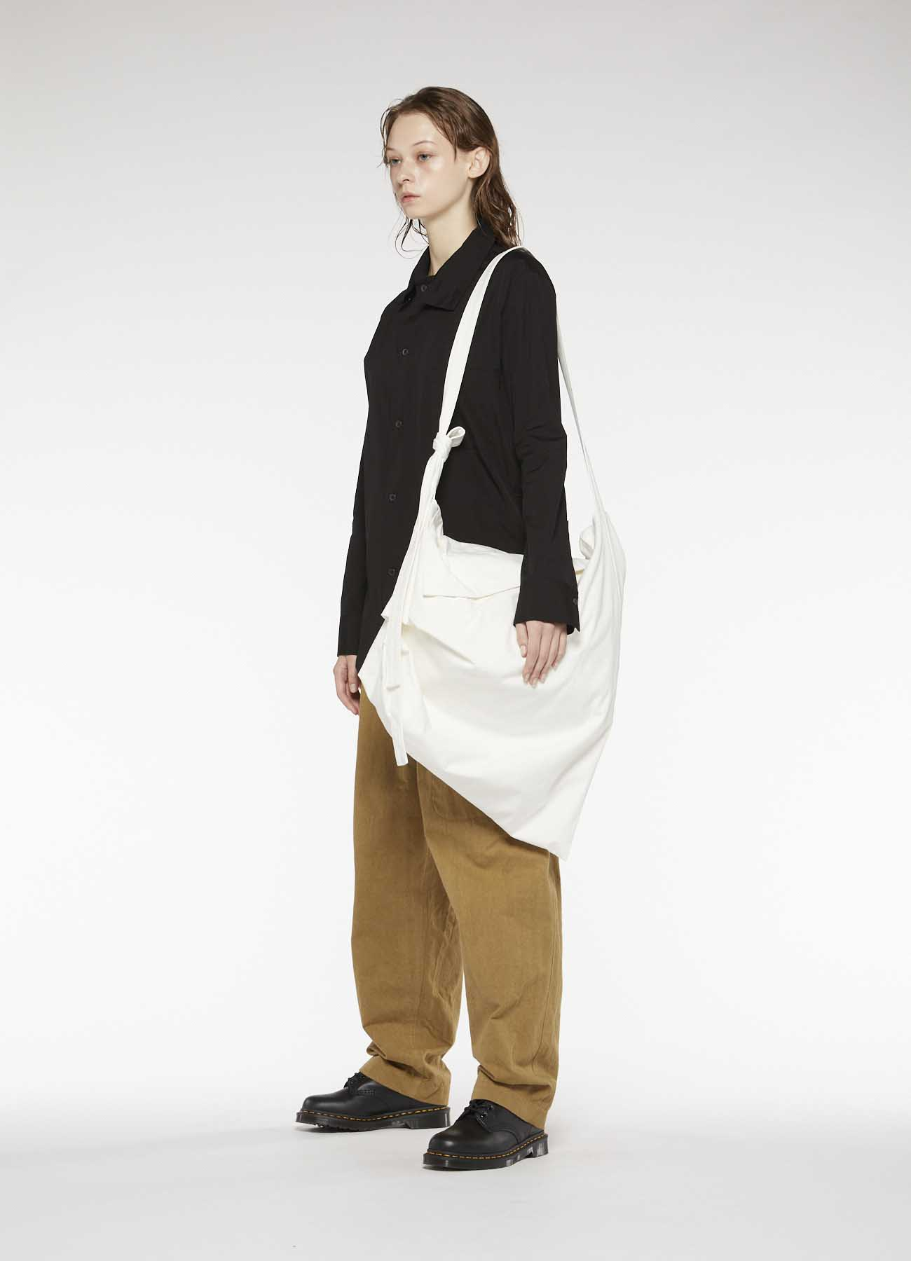 NO.11 CANVAS TUCK DRAPE BAG