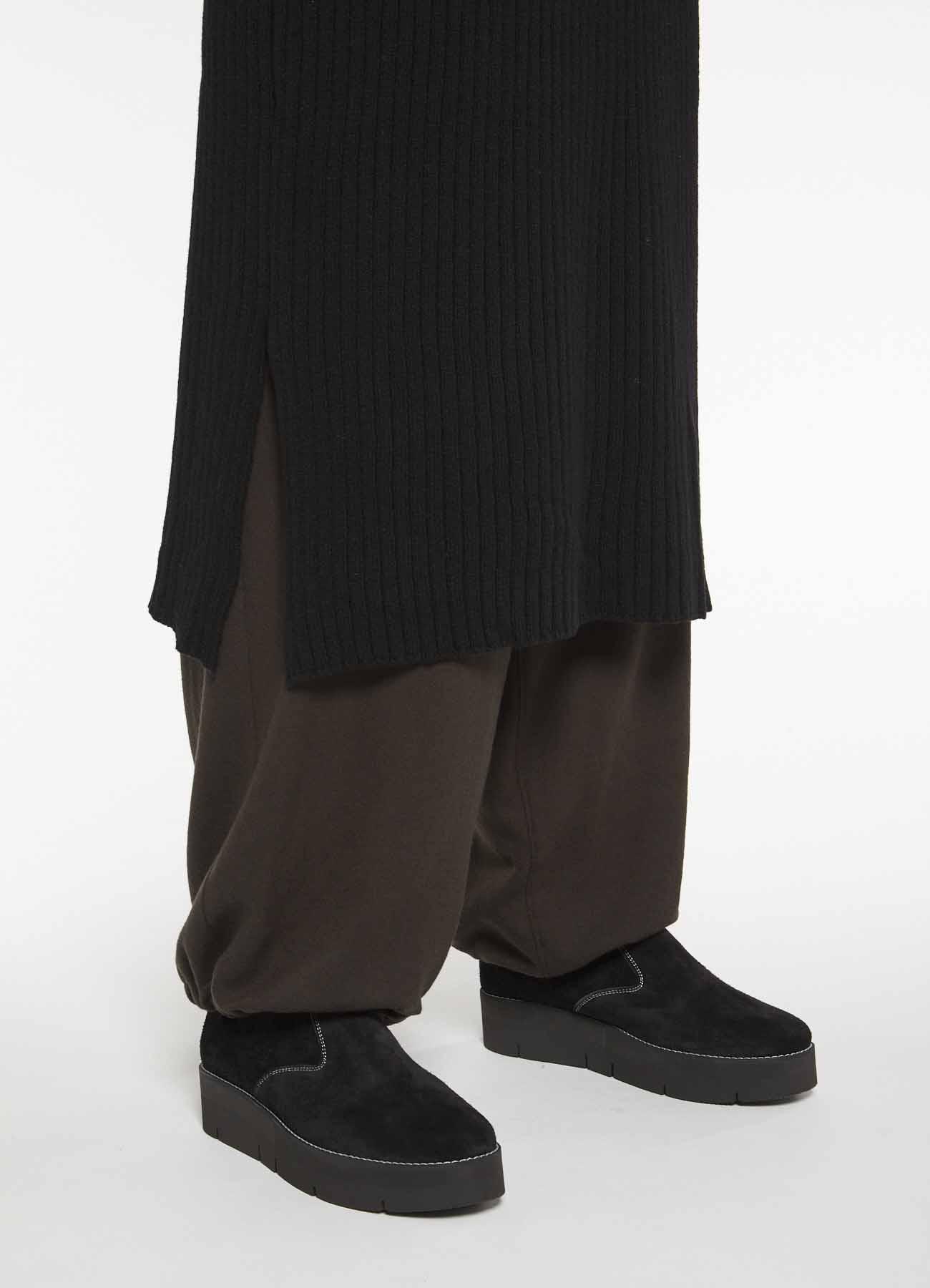 WOOL NYLON RIB DROP SHOULDER DRESS