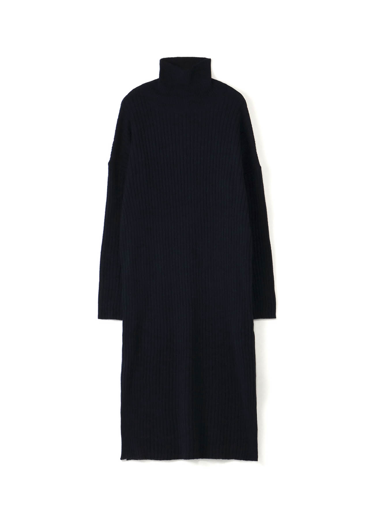 WOOL NYLON RIB DROP SHOULDER DRESS