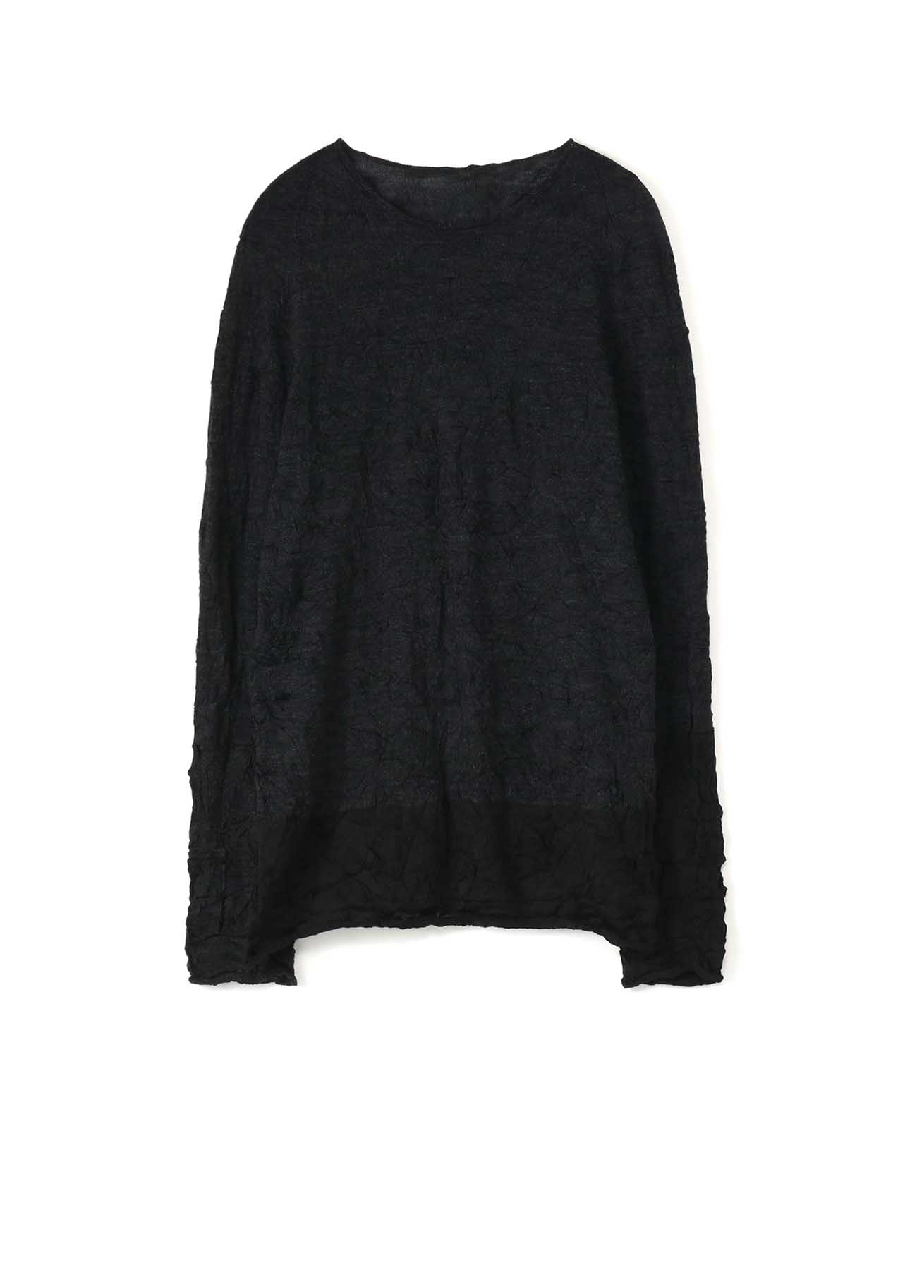 LINKS WRINKLE ROUND NECK LONG SLEEVE PULLOVER