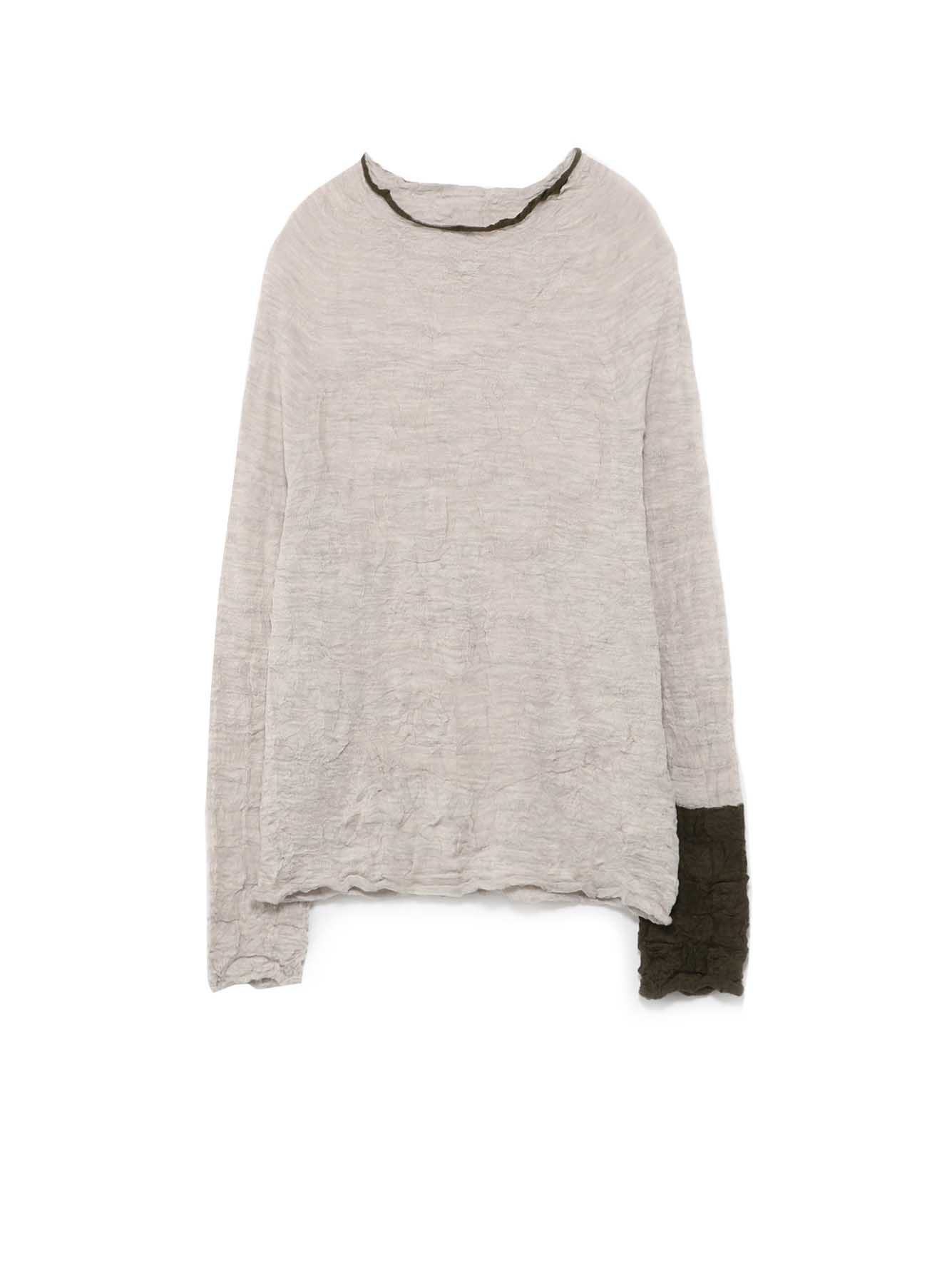 LINKS WRINKLE OFF NECK LONG SLEEVE PULLOVER