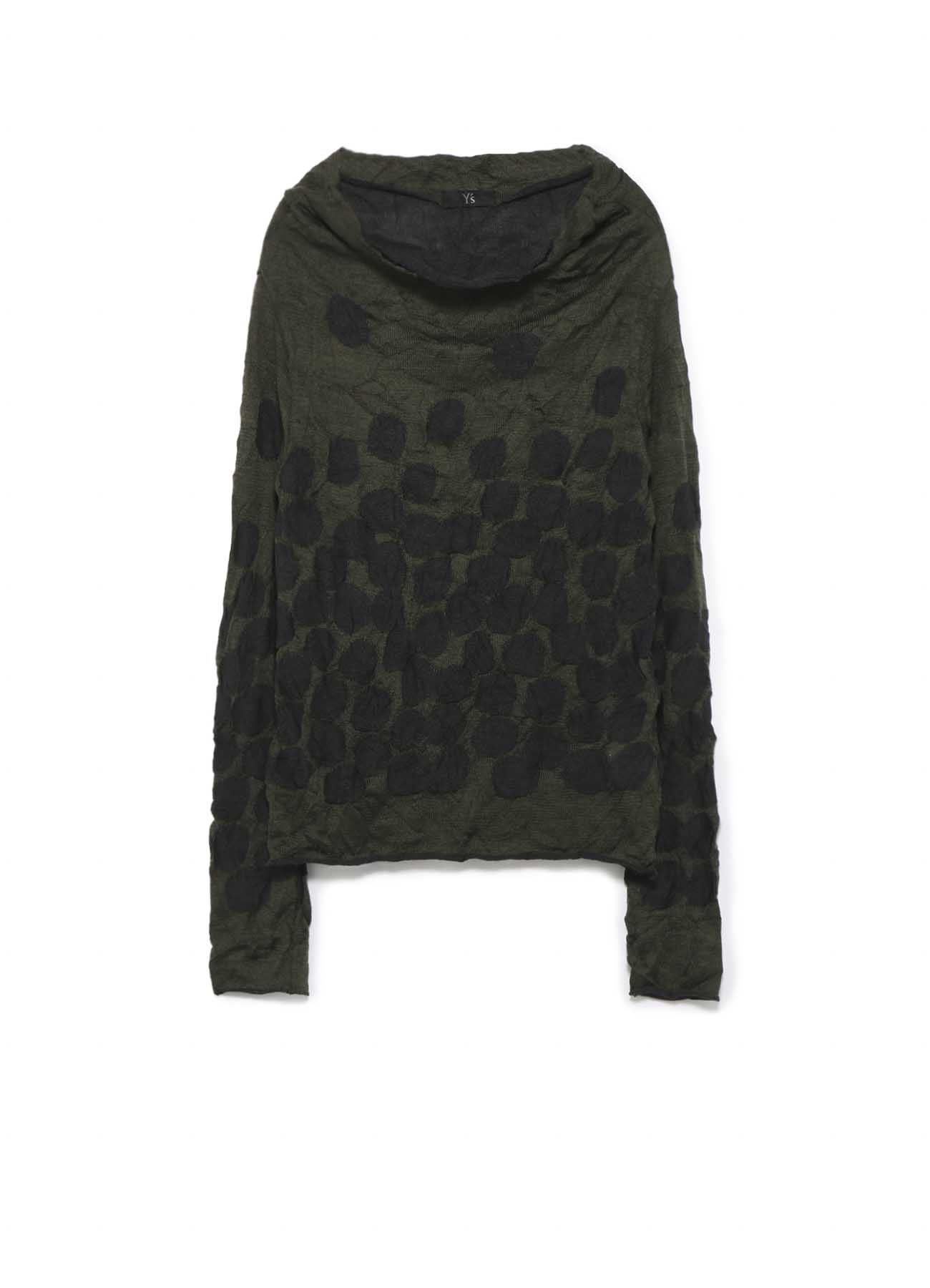 LINKS DOT WRINKLE OFF NECK LONG SLEEVE KNIT PULLOVER
