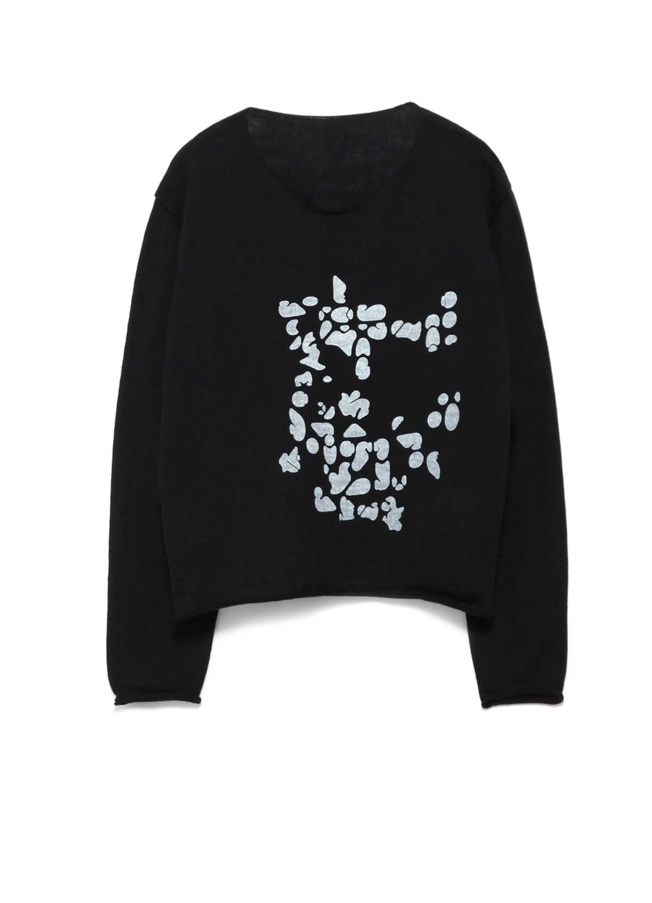 NUMBER PIGMENT PRINT ROUND NECK PULLOVER