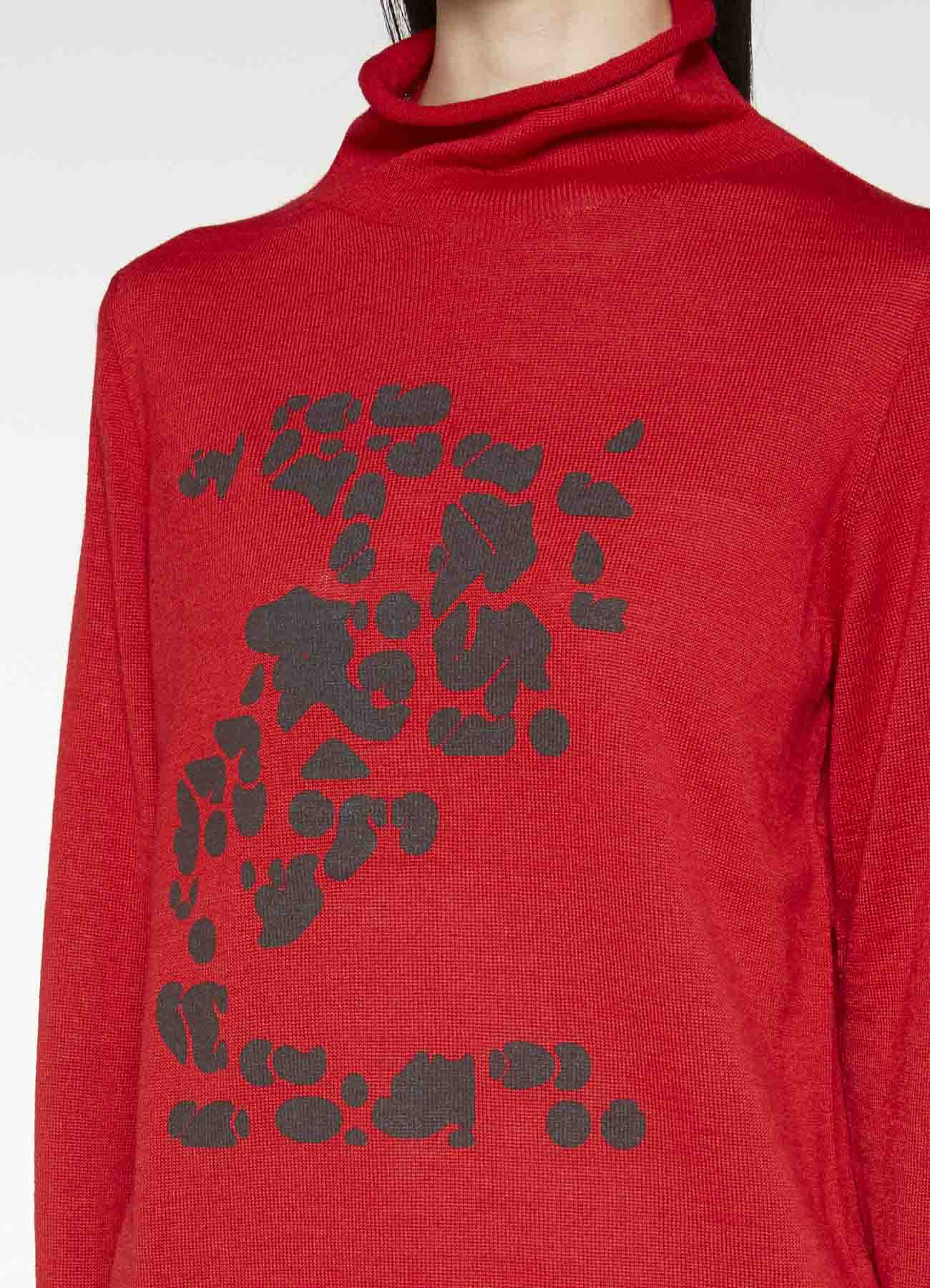 NUMBER PIGMENT PRINT HIGH NECK PULLOVER