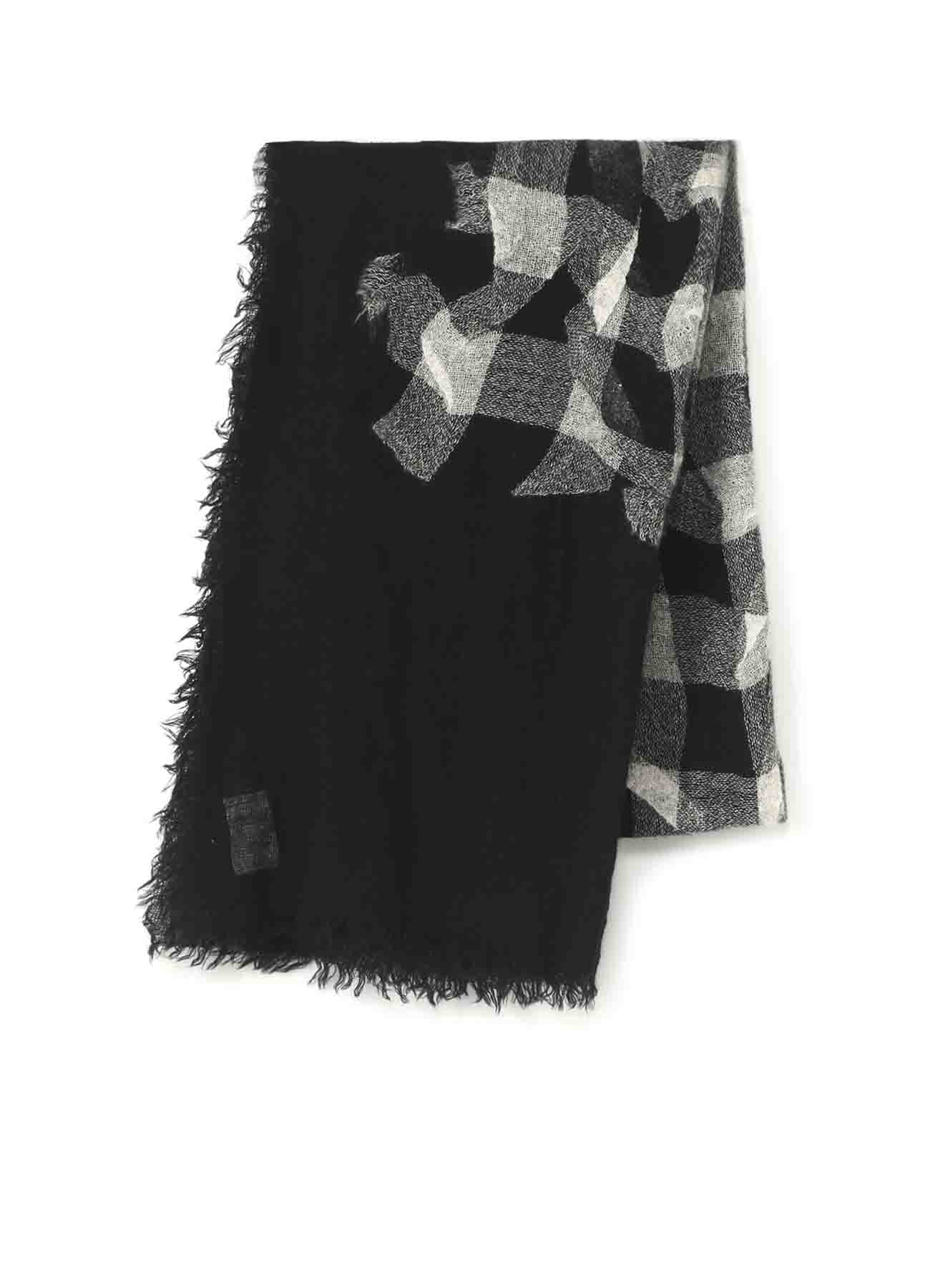 NEEDLE MILLING WOOL PLAID STOLE