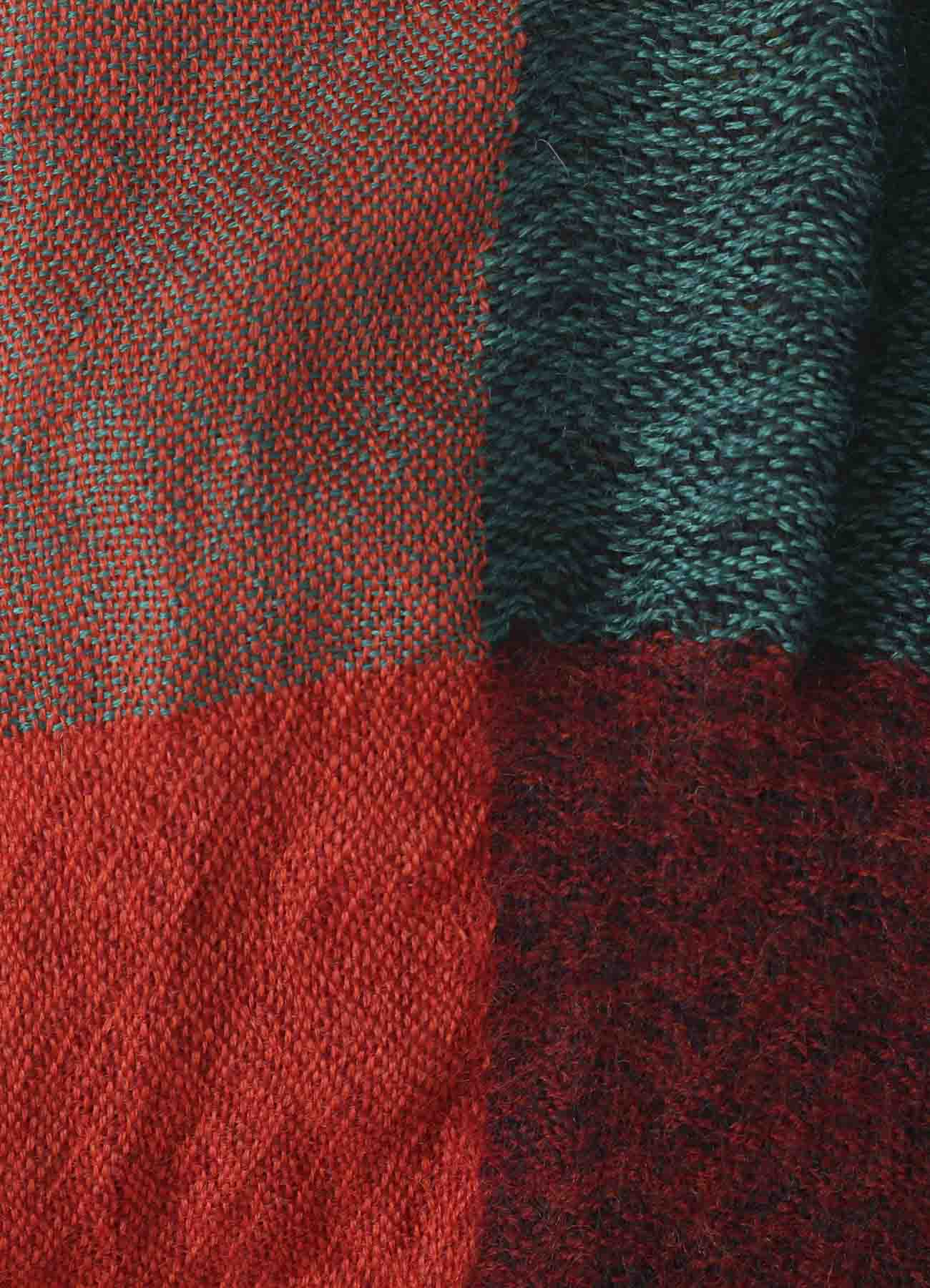 COMBI MILLING WOOL PLAID STOLE