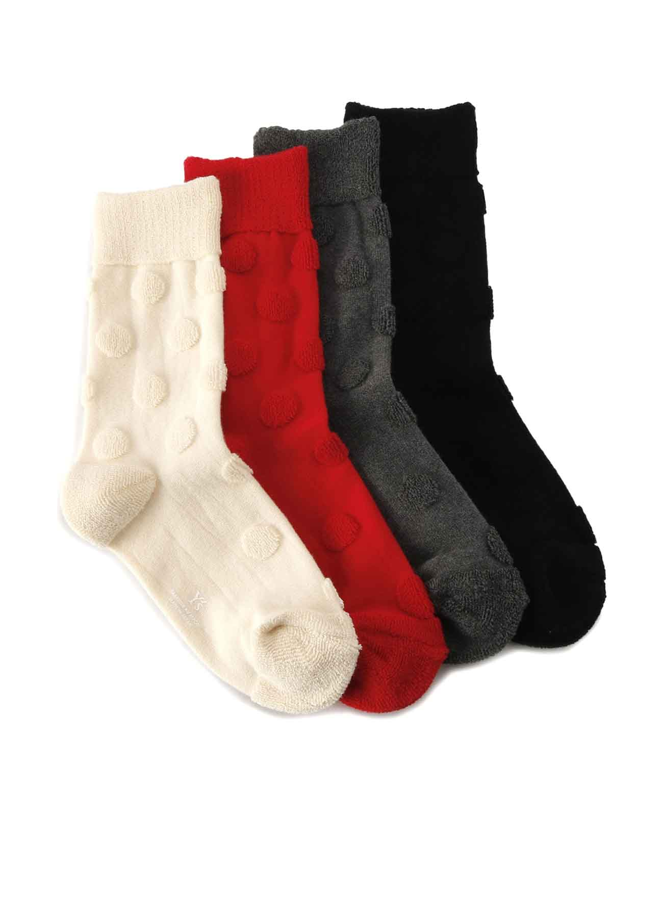 COTTON PILE PILE DOT SOCKS