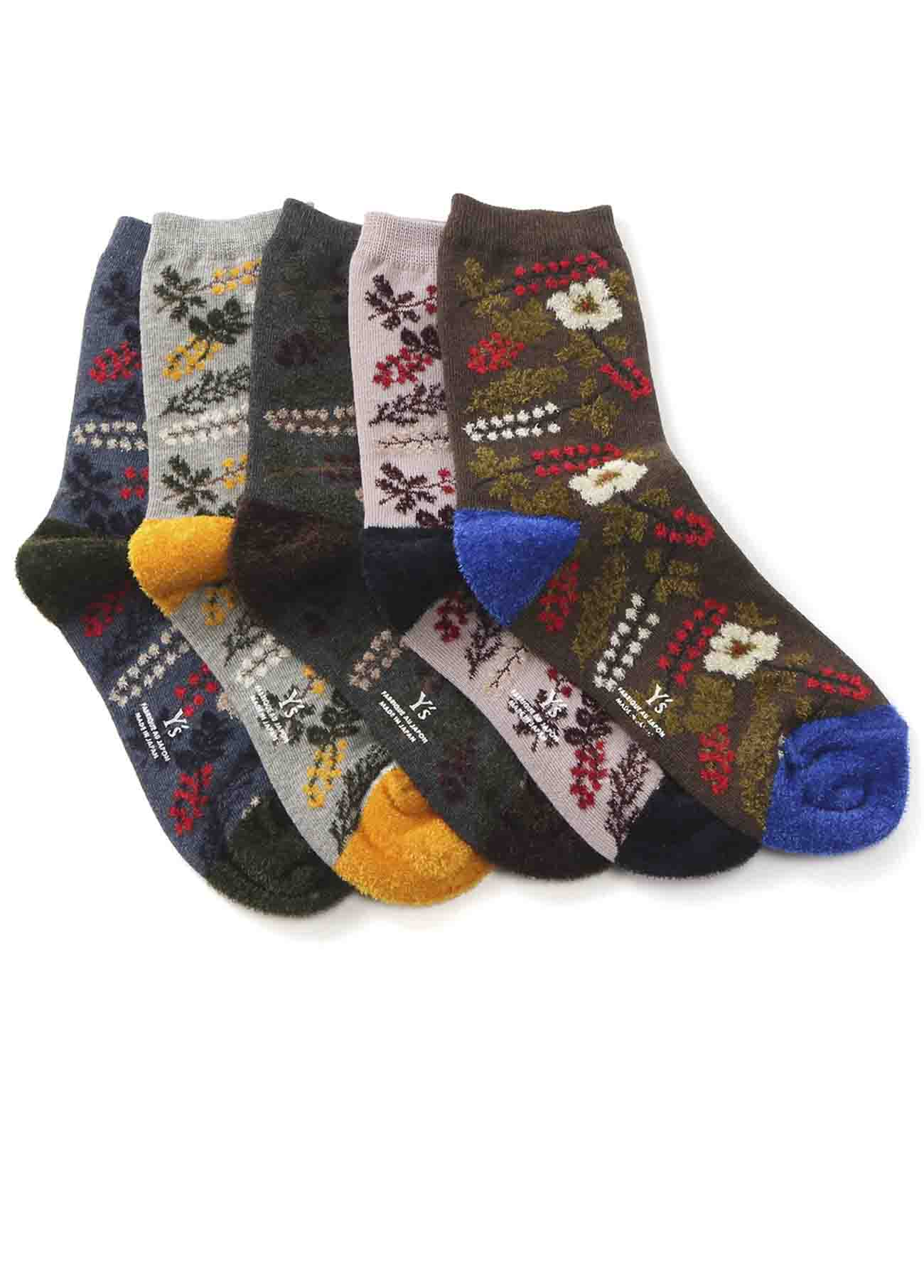 MOLE FLOWER PATTERN SOCKS