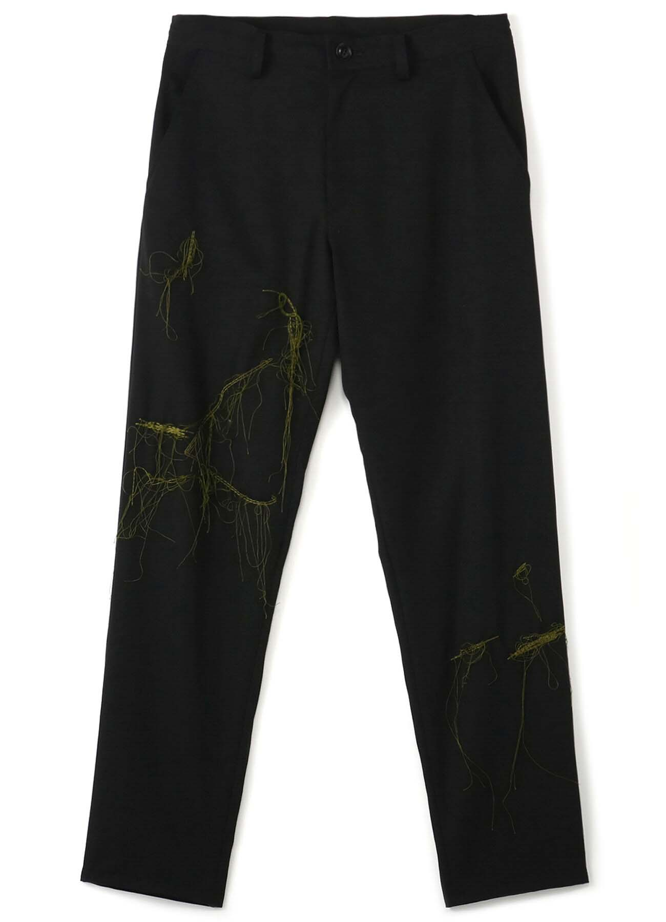GABARDINE WAIST STRING THIN PANTS