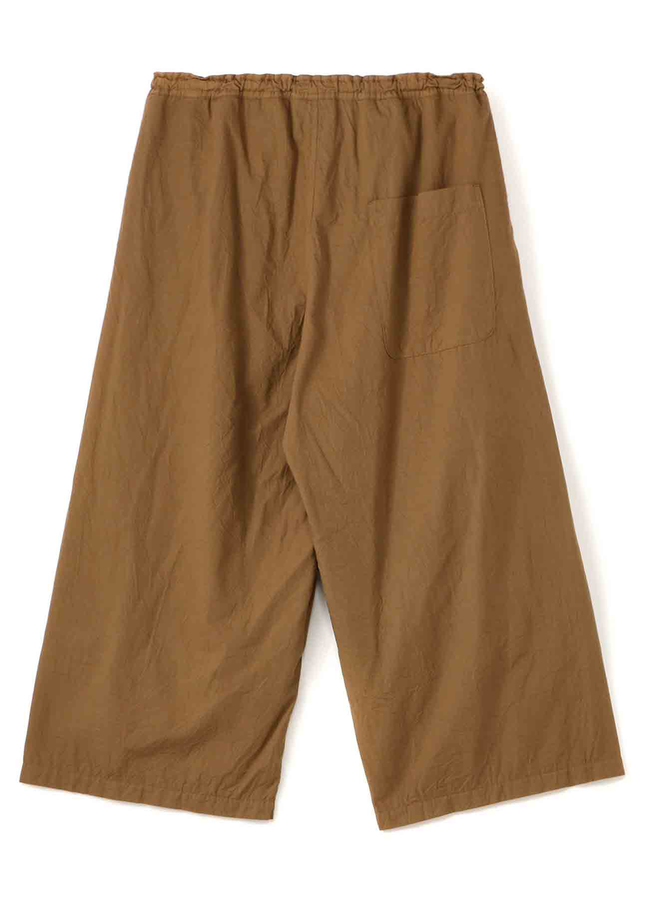 COTTON BROAD WRINKLE GARMENT DYE FRONT TUCK PANTS