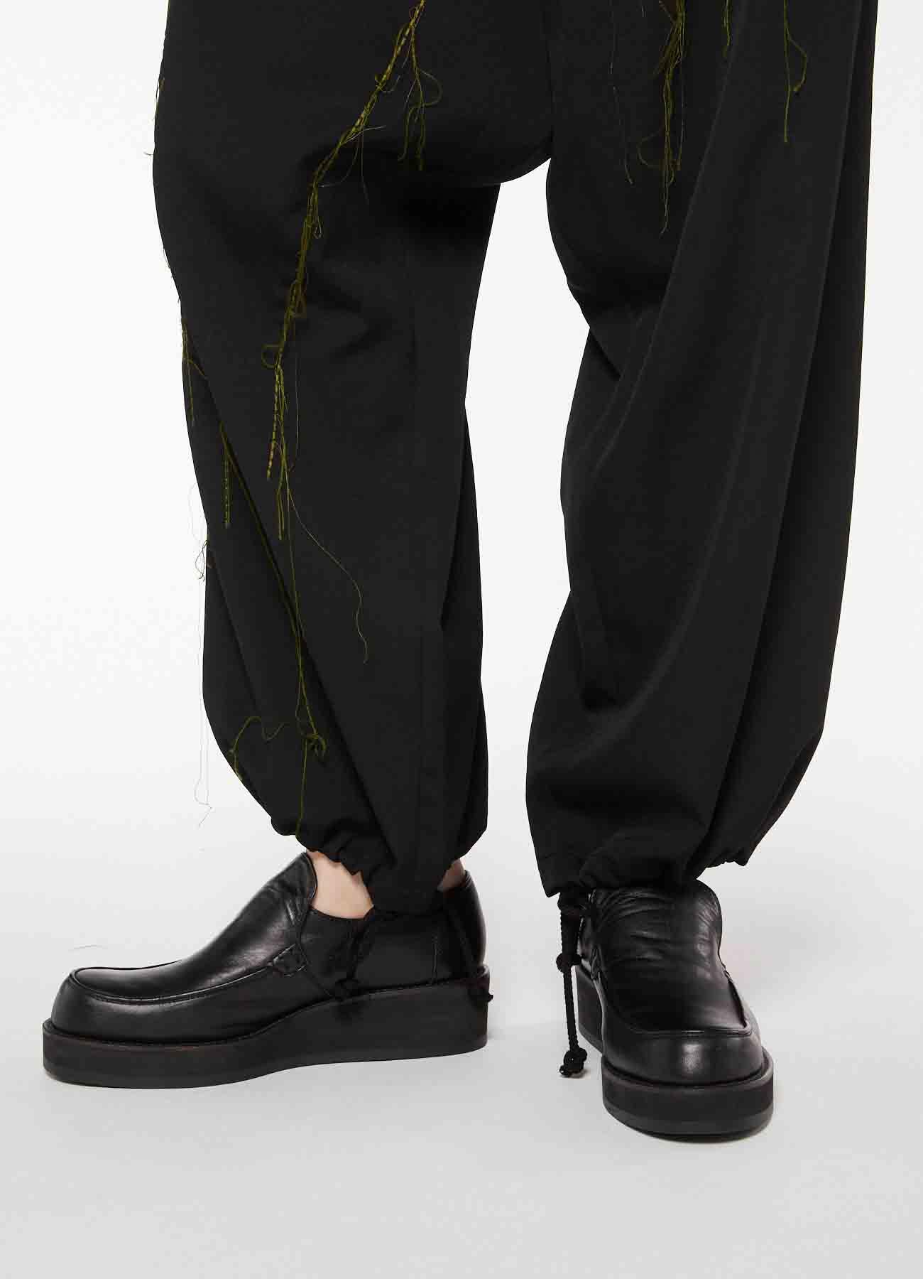 GABARDINE FLAP STRING THICK PANTS