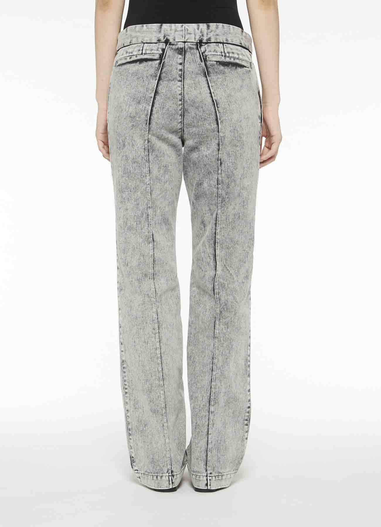 Y'sPINK COTTON TWILL DENIM COLOR CHEMICAL PIN TUCK PANTS