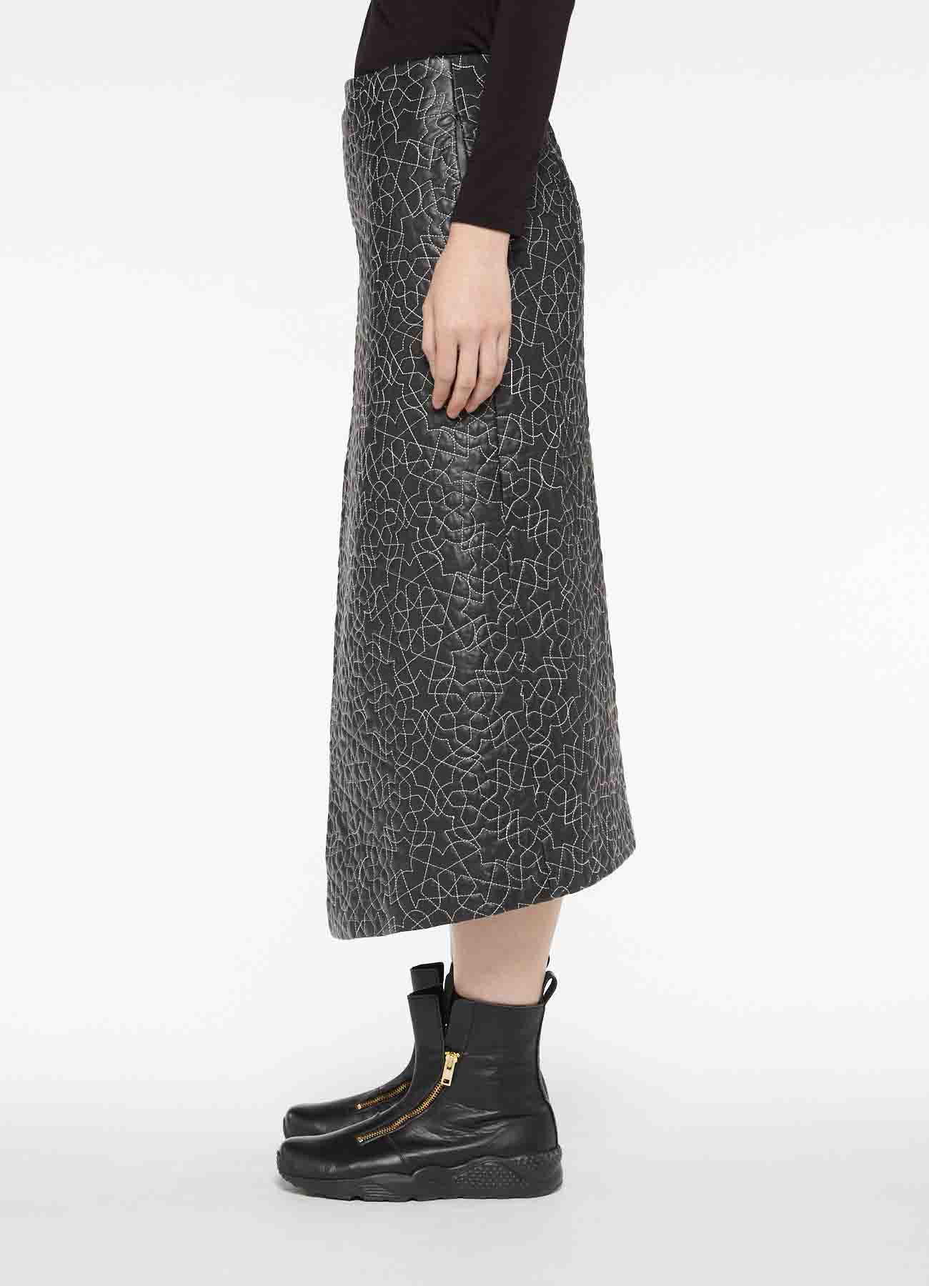 SHEEP SKIN INSULATED QUILTING WRAPPED SKIRT