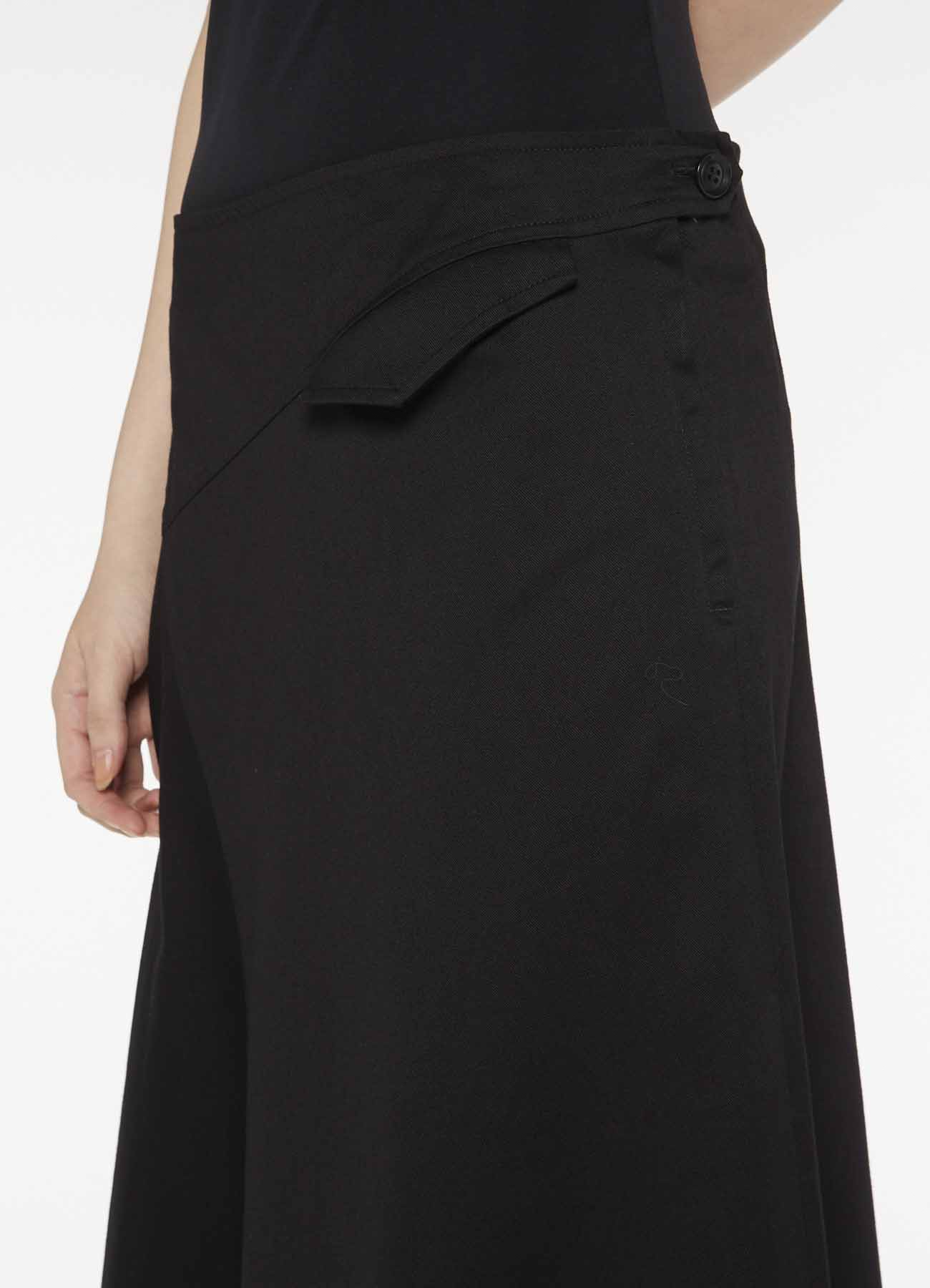 Y's-BORN PRODUCT DIAGONAL SWITCH FLARE SKIRT