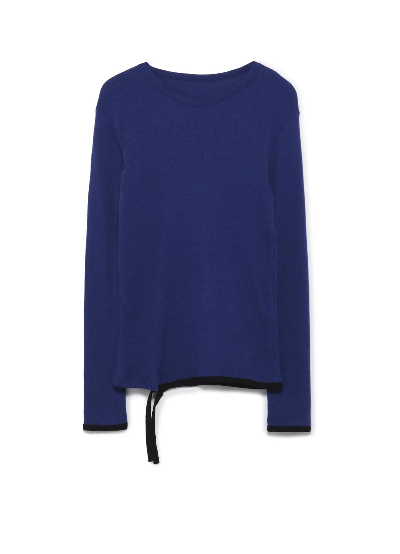 ANGORA WOOL RIB STITCH KNIT TAPE LONG SLEEVE T-SHIRT