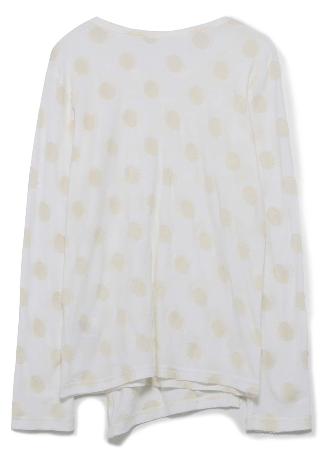DOT CUT JACQUARD FRONT LAYERED DECO CLOTH T-SHIRT