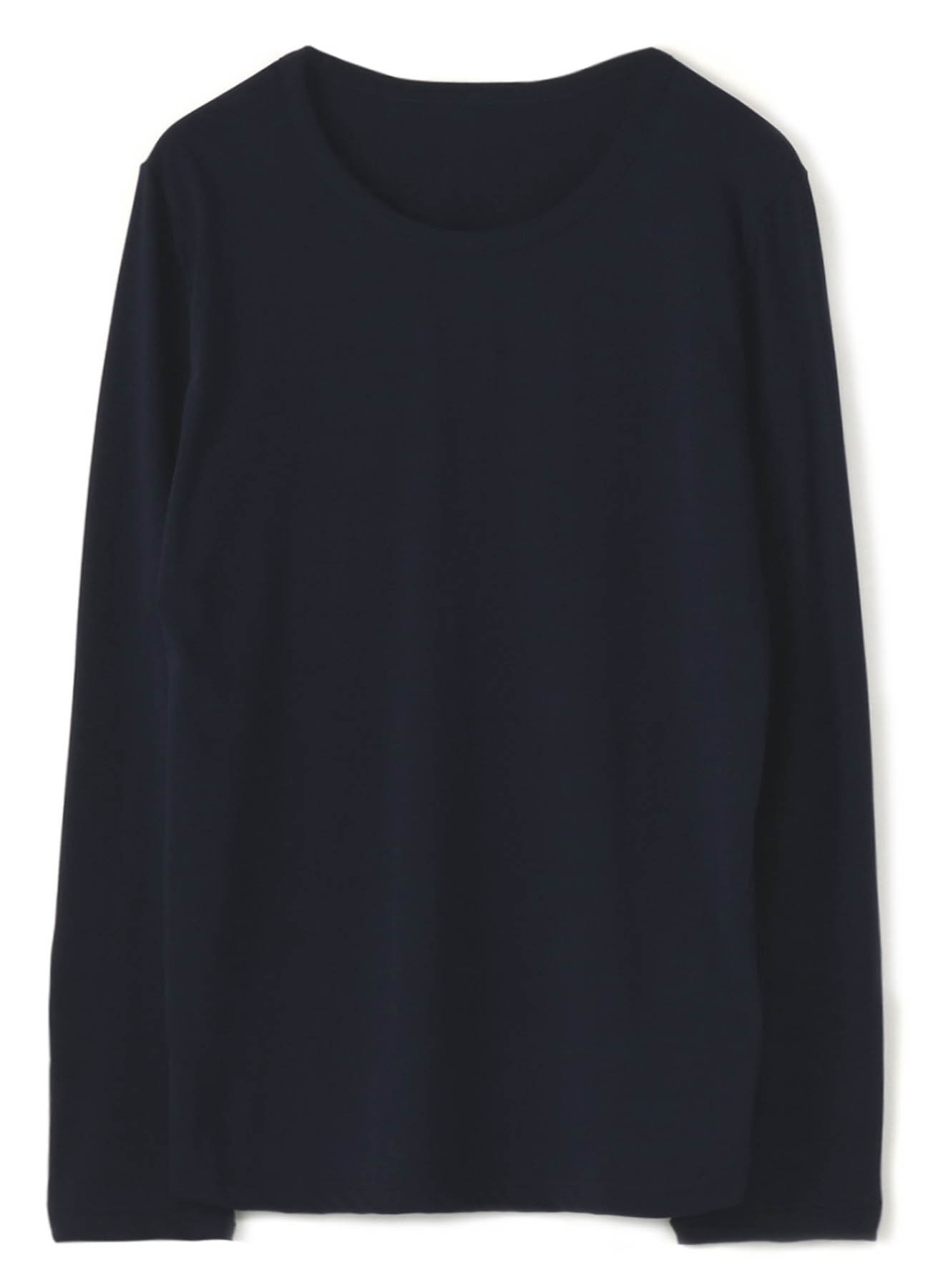 SOFT COTTON ROUND-NECKED COLLAR LONG SLEEVE T-SHIRT