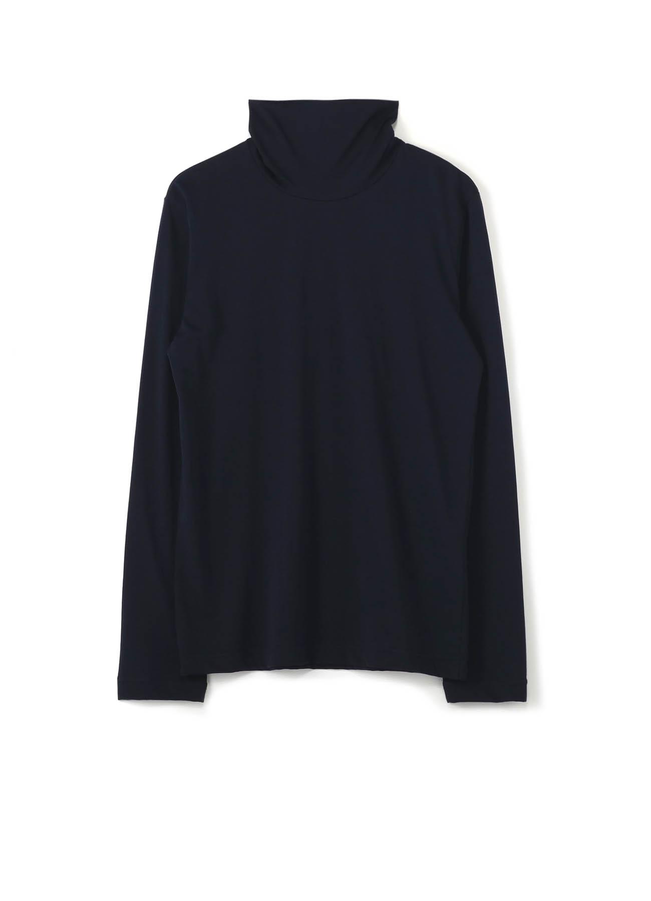 SOFT COTTON HIGHT-NECKED COLLAR LONG SLEEVE T-SHIRT