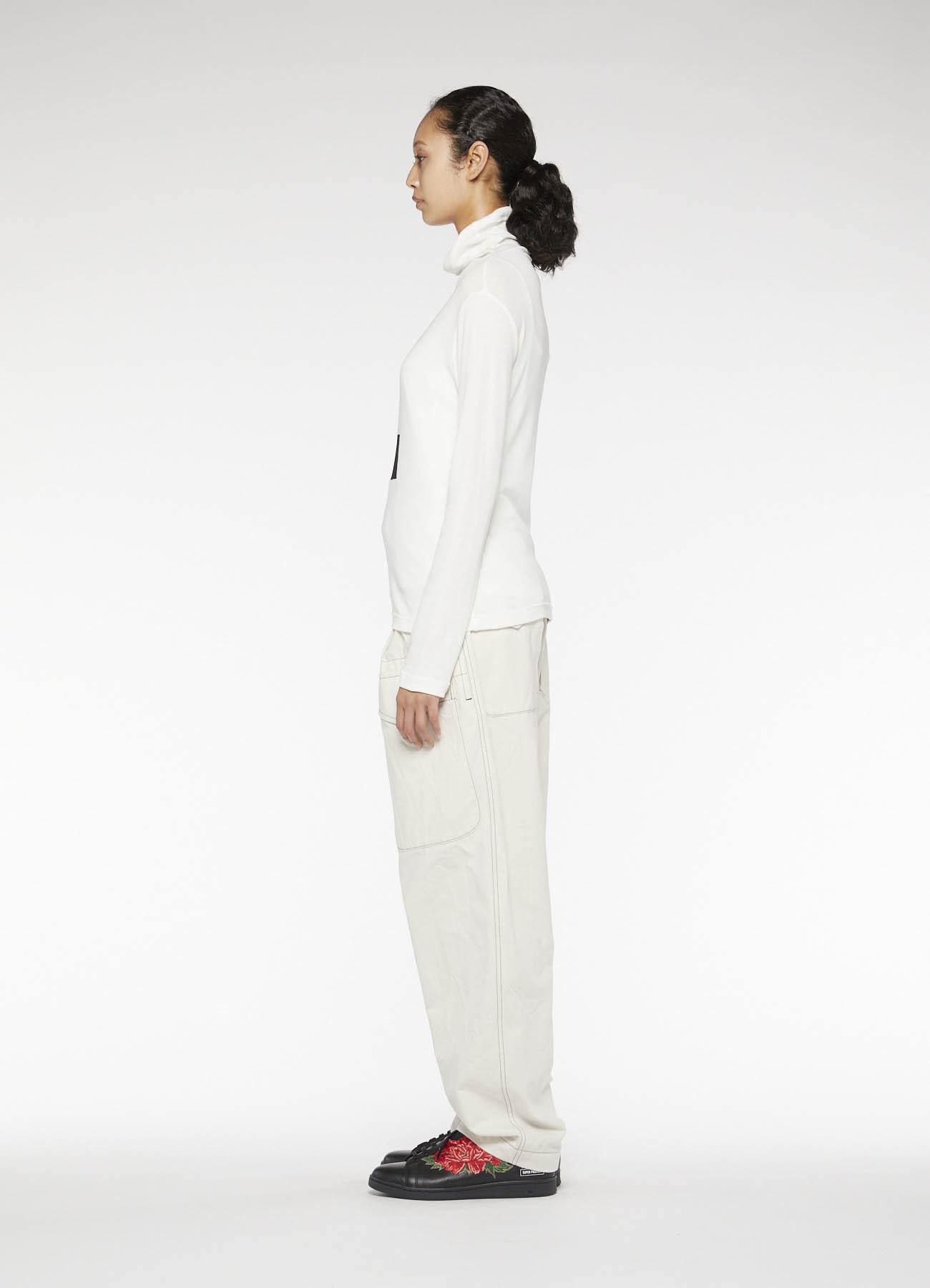 MILANORIB x PATCHWORK HIGHT-NECKED COLLAR T-SHIRT